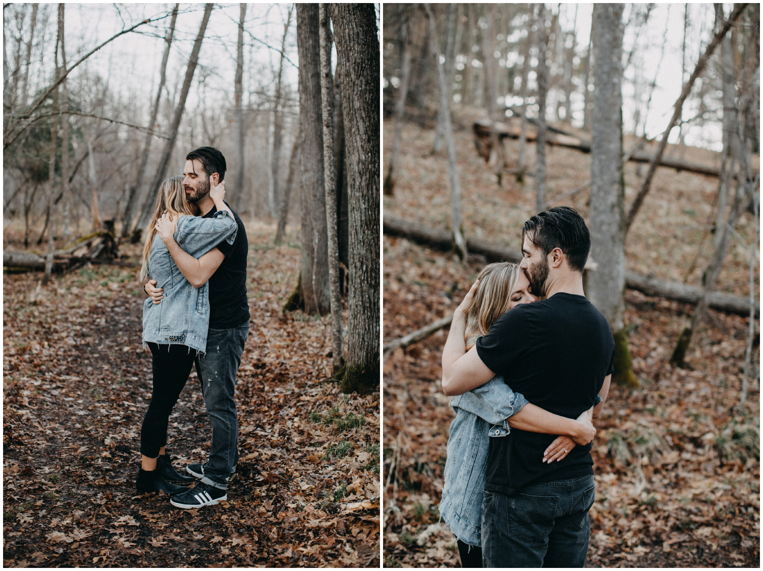 Intimate engagement session in the woods by Brainerd photographer Britt DeZeeuw