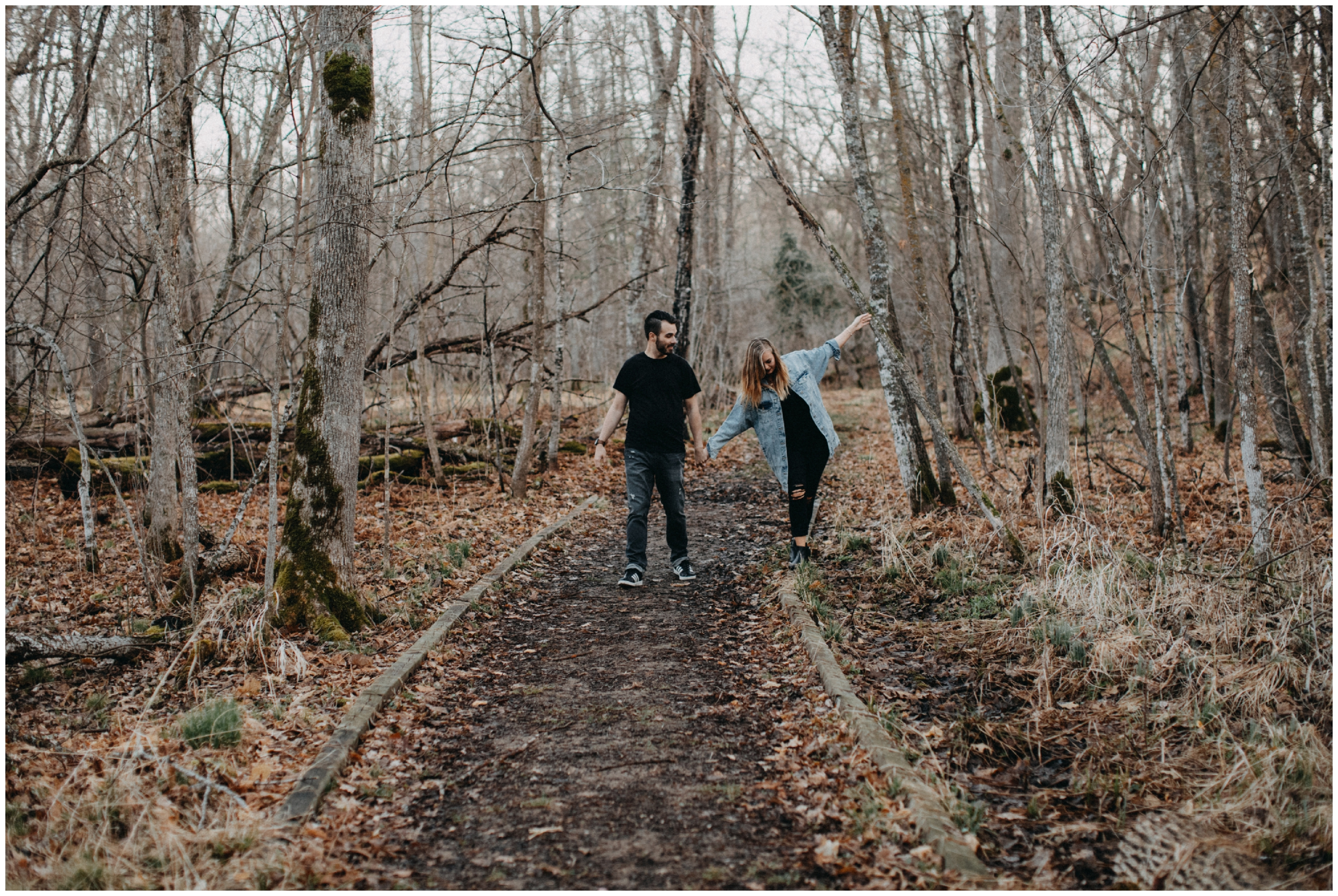 Journalistic style engagement photography in Brainerd Minnesota