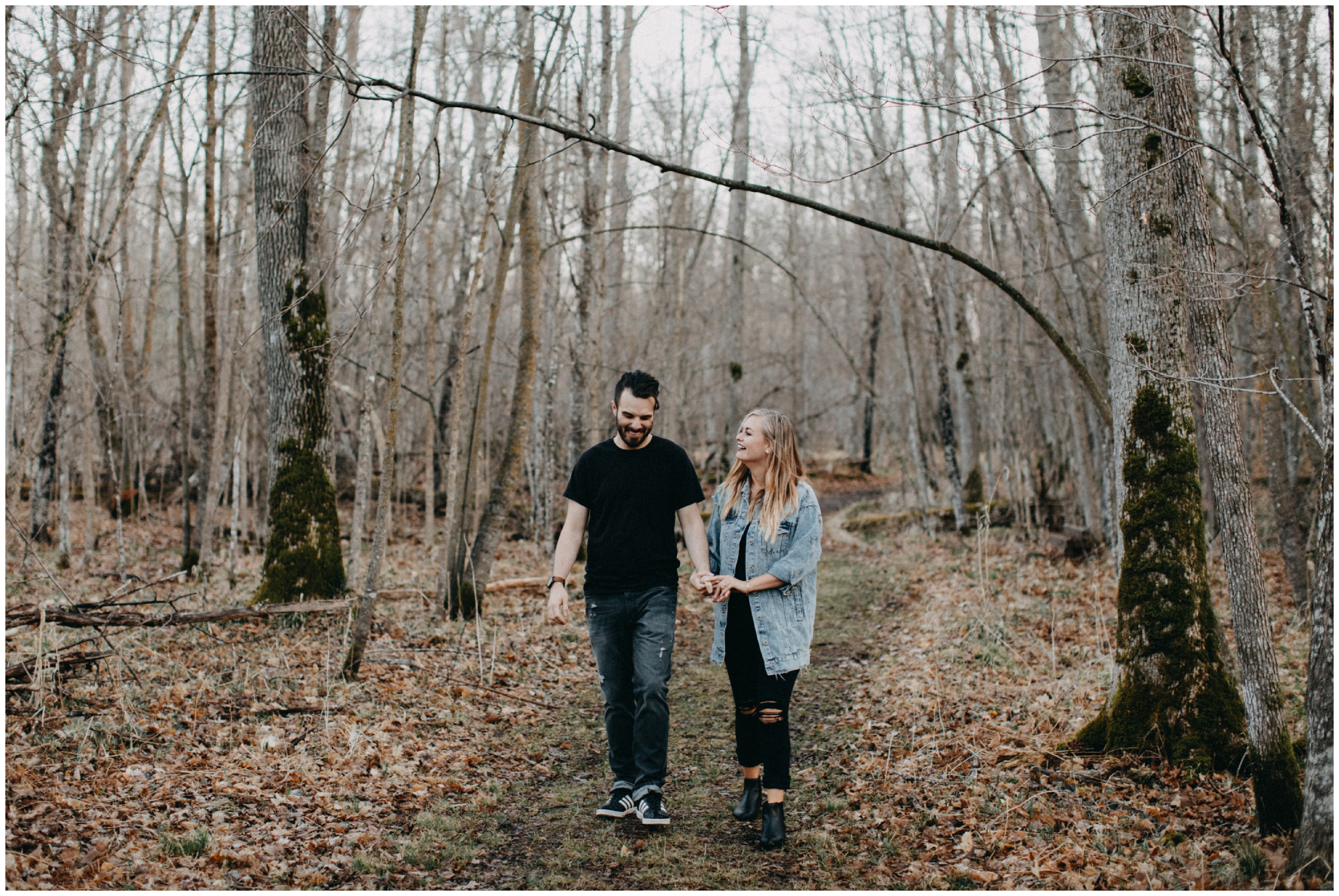 Northern Minnesota engagement session in the woods