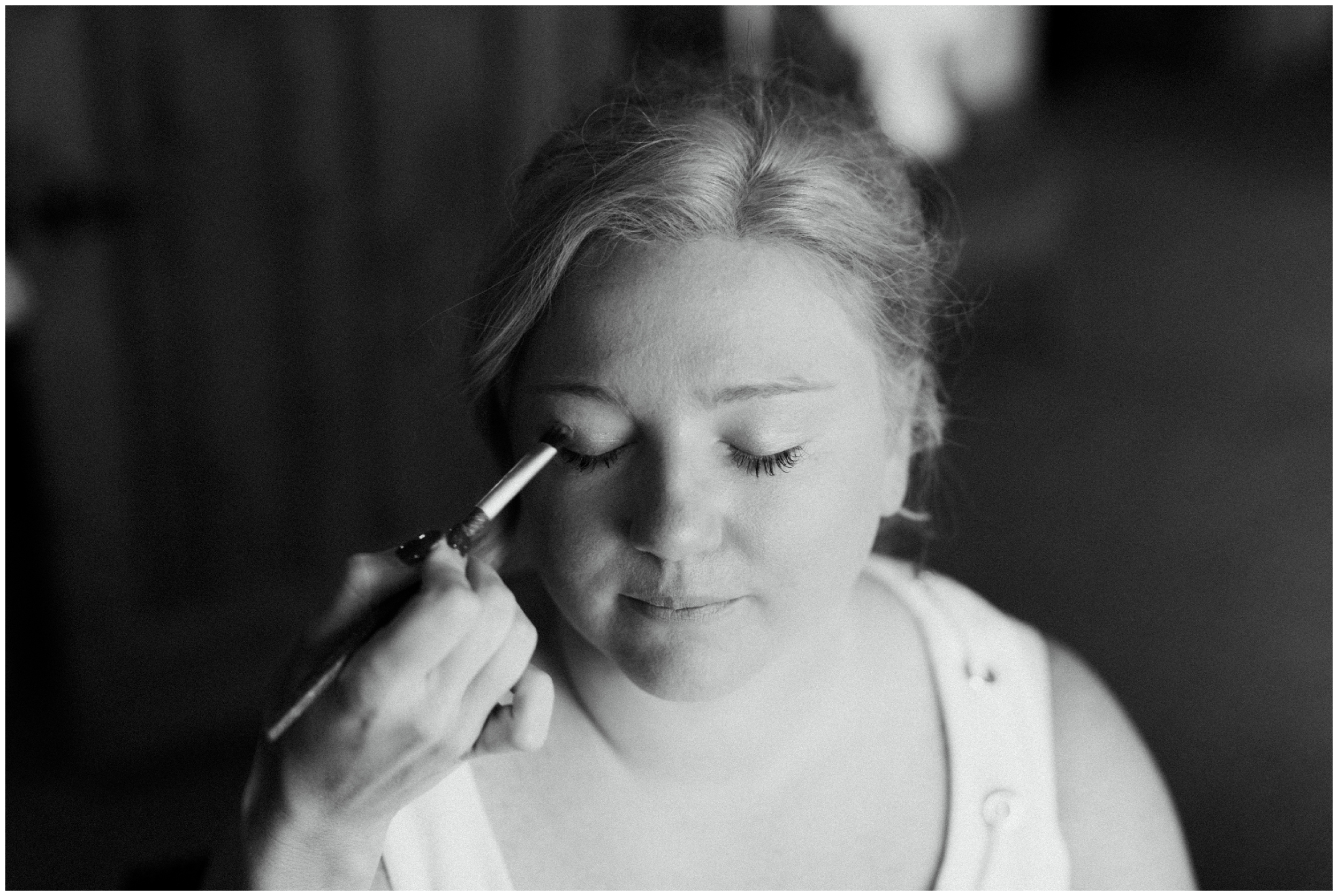 Bride getting ready at Madden's resort wedding in Brainerd MN