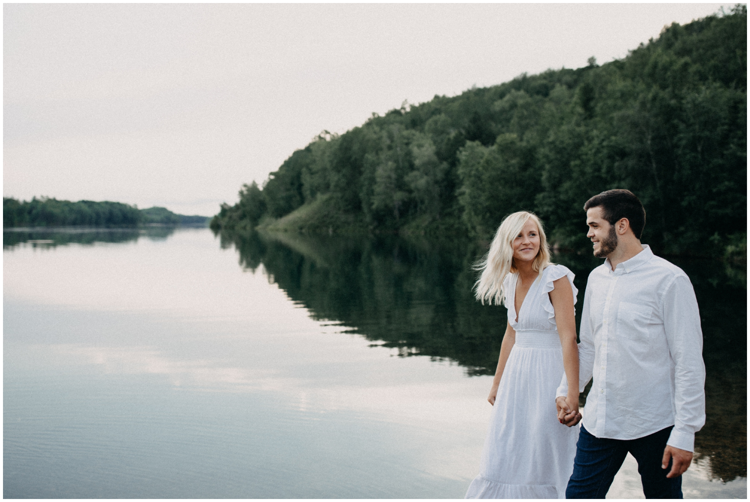 Lakeside engagement in Crosby, Minnesota