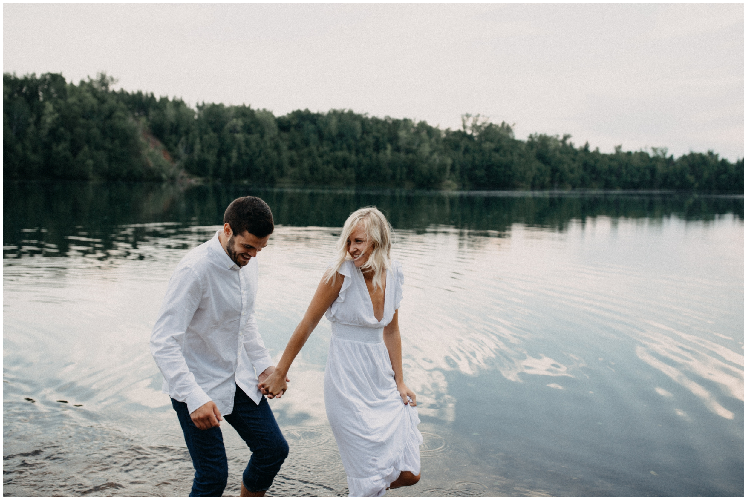 Lakeside engagement session photographed by Britt DeZeeuw