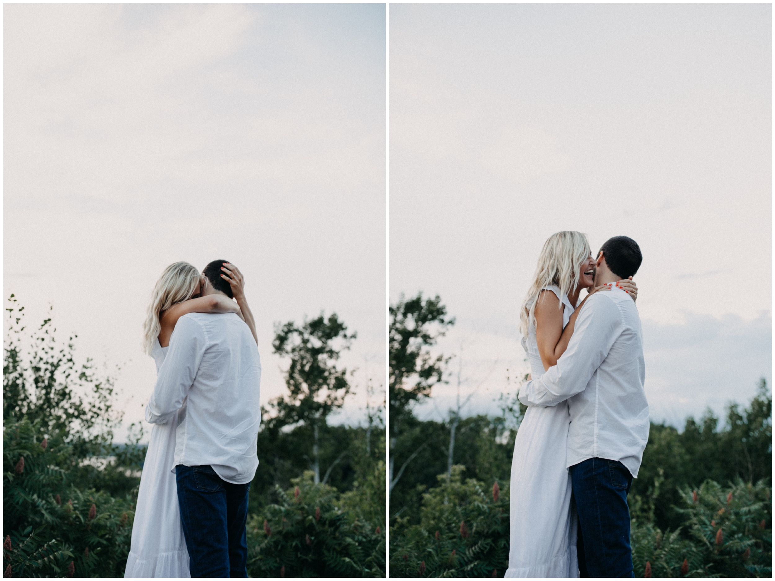 Romantic and emotional engagement photography  on Miner's Mountain by Britt DeZeeuw