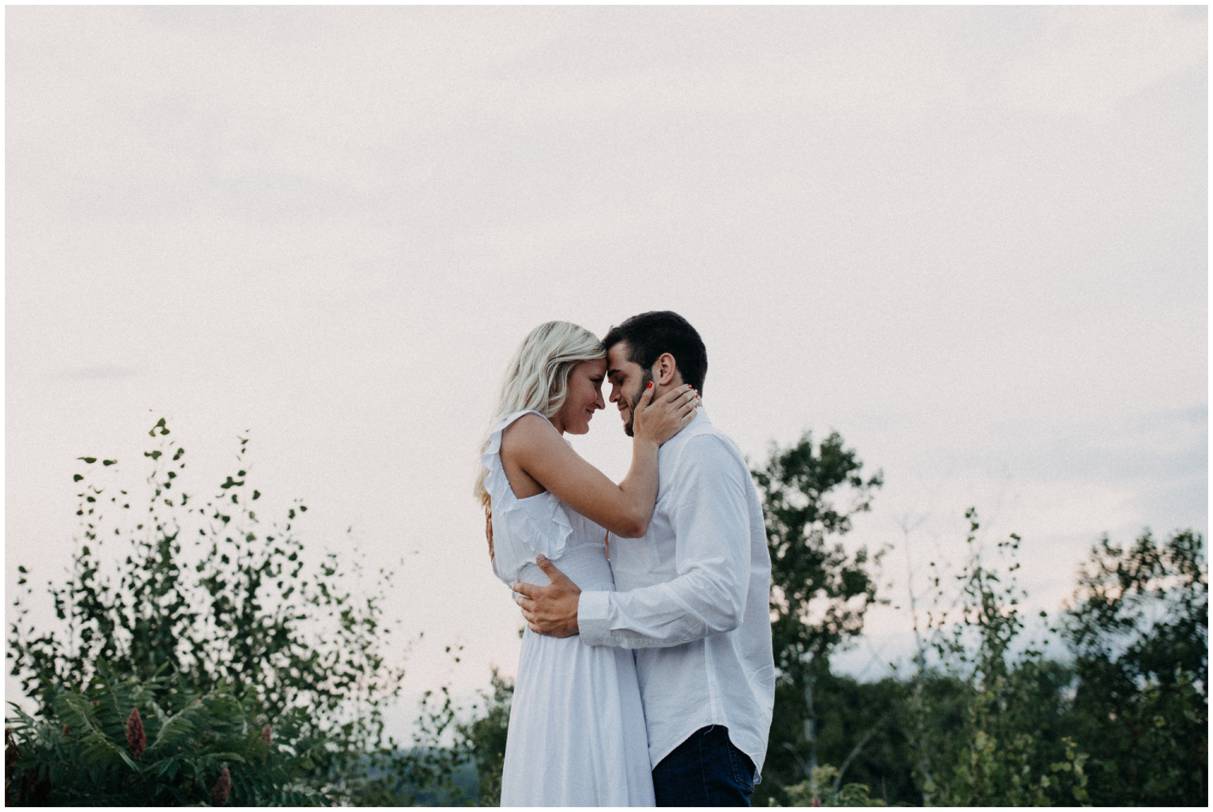 Summer sunset engagement session on Miner's Mountain in Crosby Minnesota