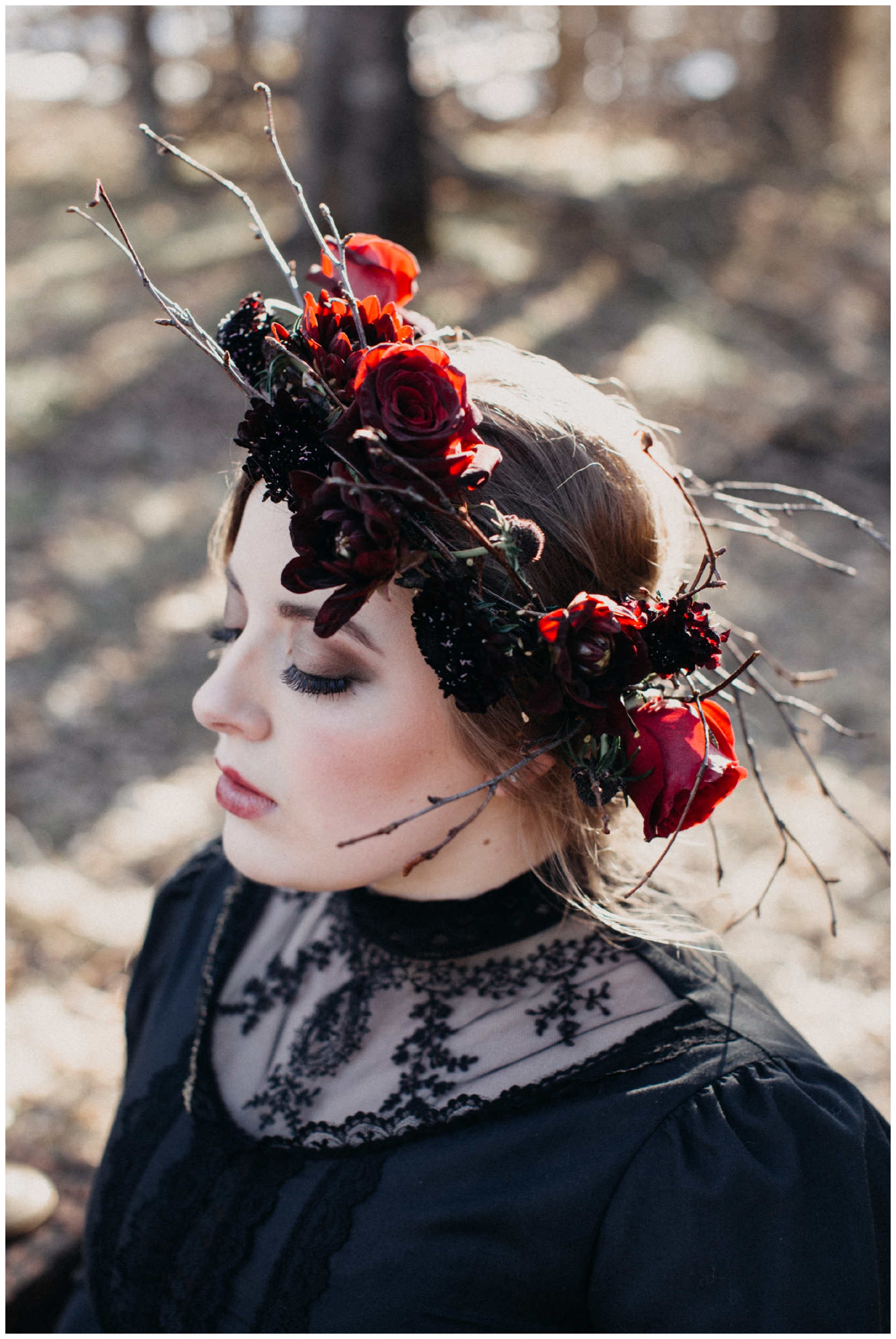Ethereal and dark wedding inspiration by Brainerd Minnesota photographer, Britt DeZeeuw