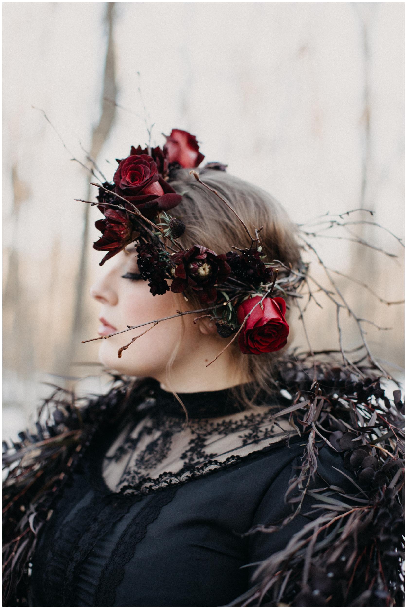 Romantic winter styled bridal shoot in Brainerd Minnesota