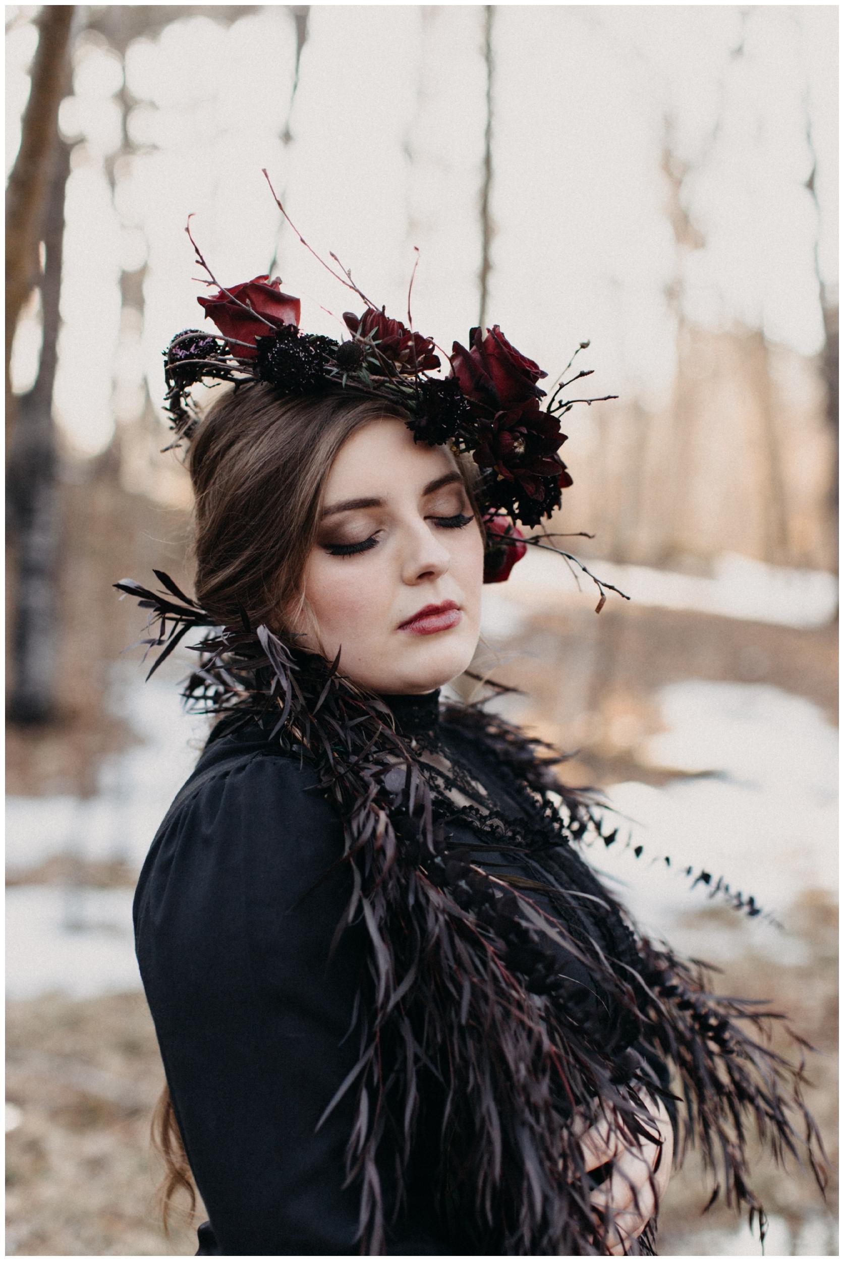 Romantic and moody styled wedding by Brainerd MN photographer, Britt DeZeeuw