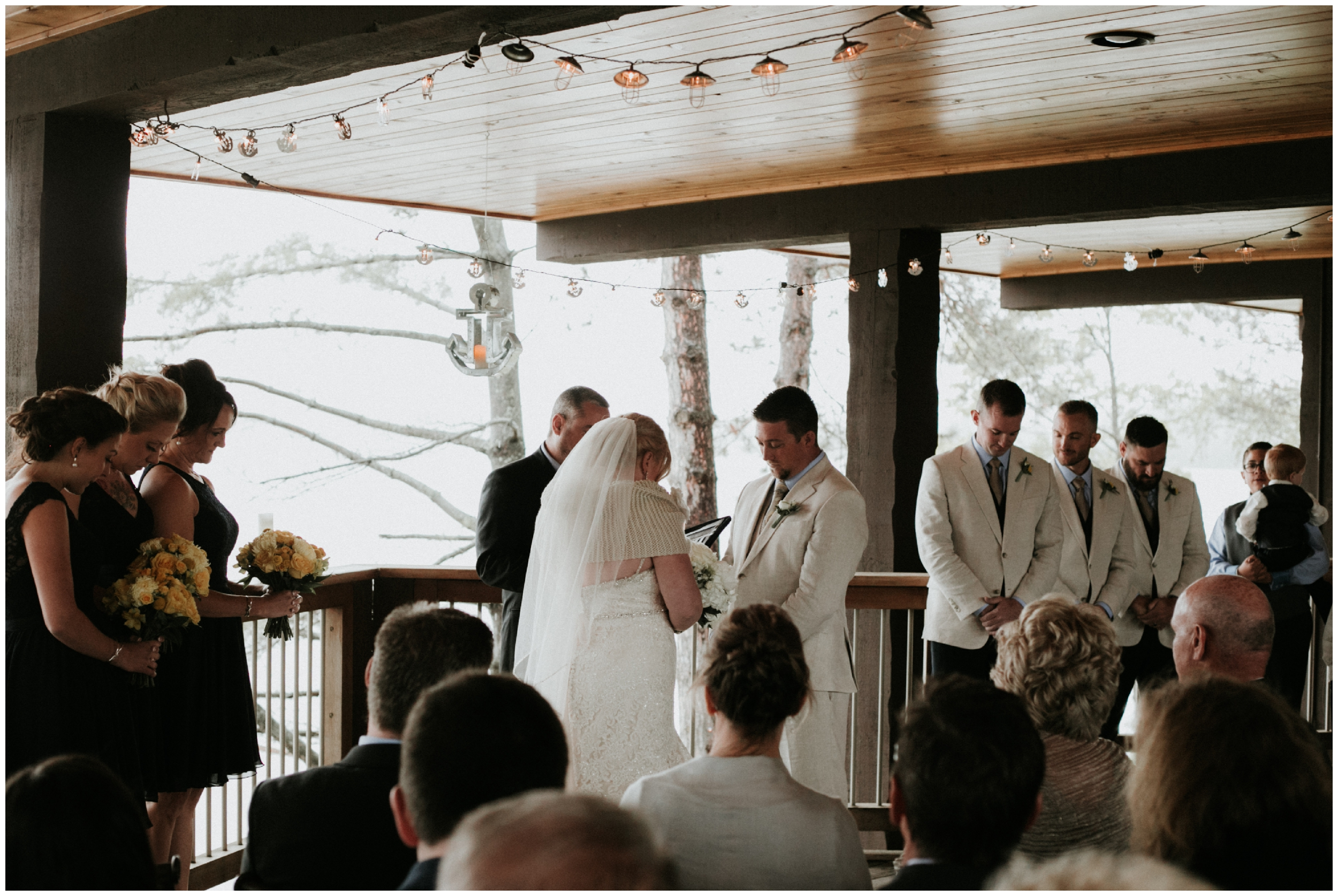 Intimate wedding ceremony on Gull Lake Brainerd MN