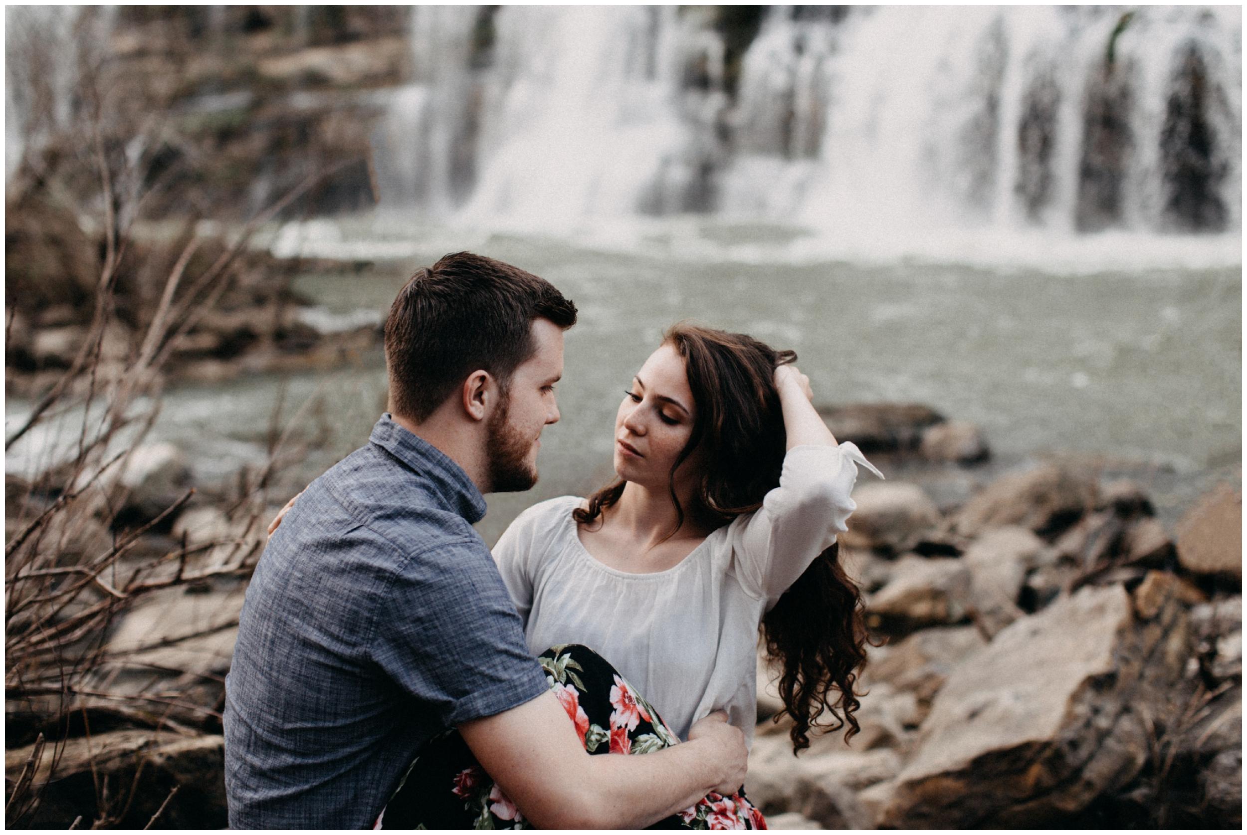 Engagement photography at Rock Island State park near Nashville, TN