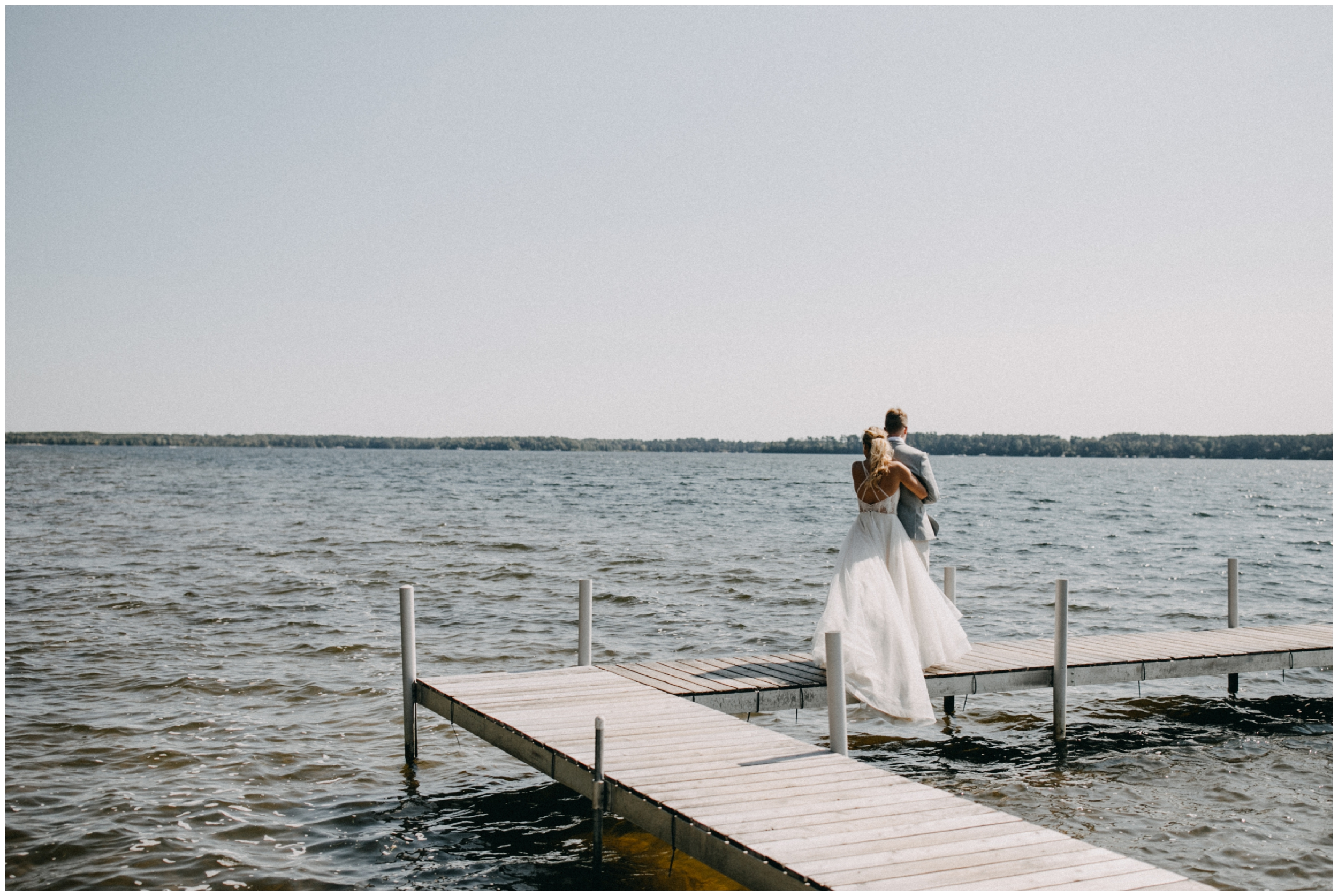 Cabin wedding on the Whitefish chain in northern Minnesota