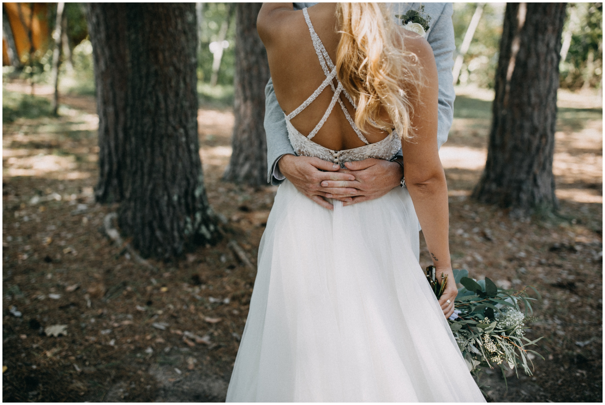 Romantic wedding in the woods at Camp Foley in Pine River, Minnesota by Britt DeZeeuw photography