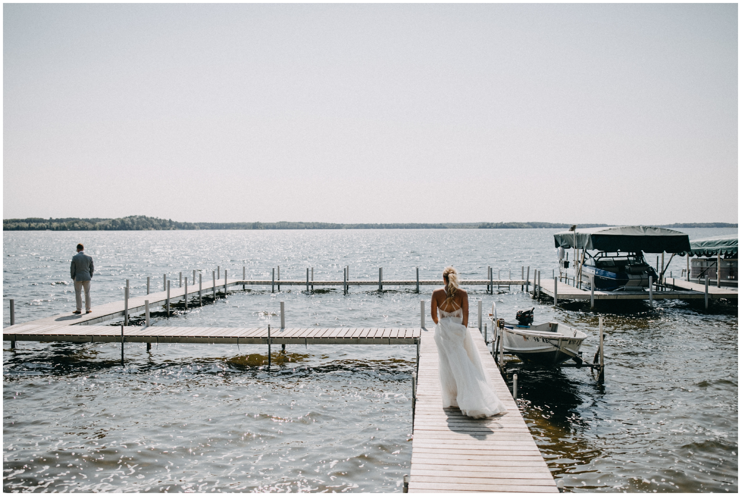Cabin wedding at Camp Foley in Pine River, Minnesota