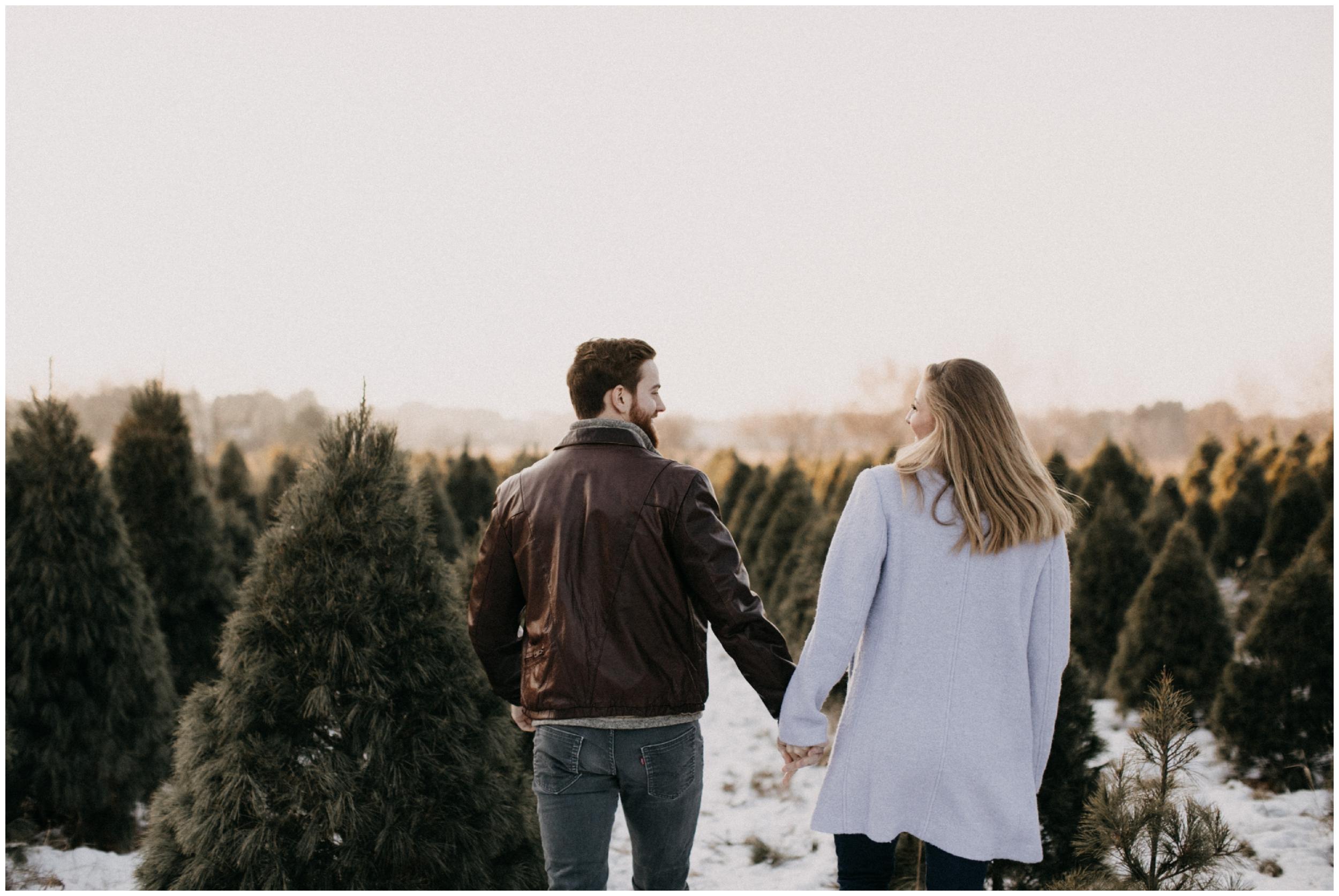 Engagement at Hansen Tree Farm in Anoka, MN
