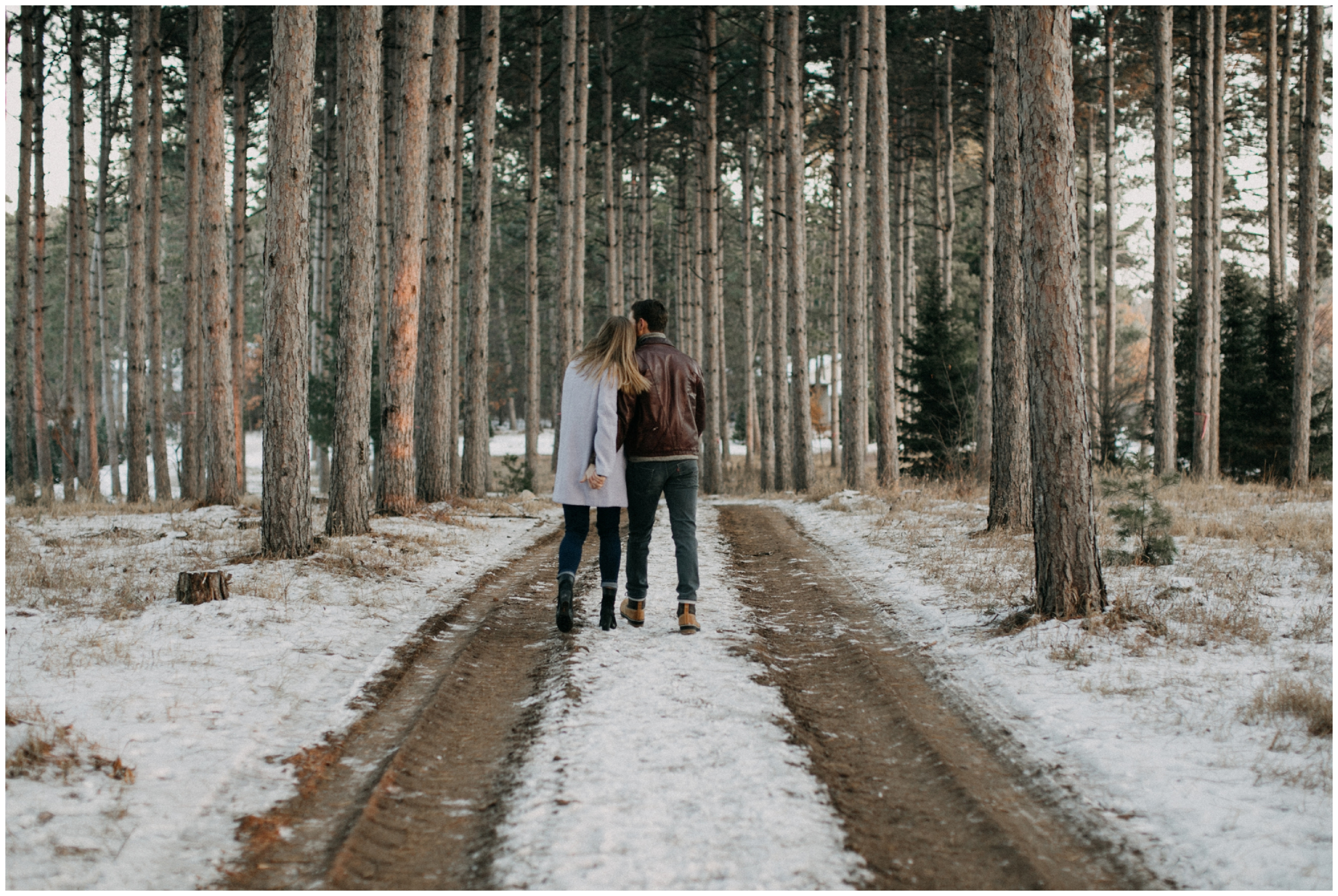 Pine Tree forest engagement session in MN by Britt DeZeeuw