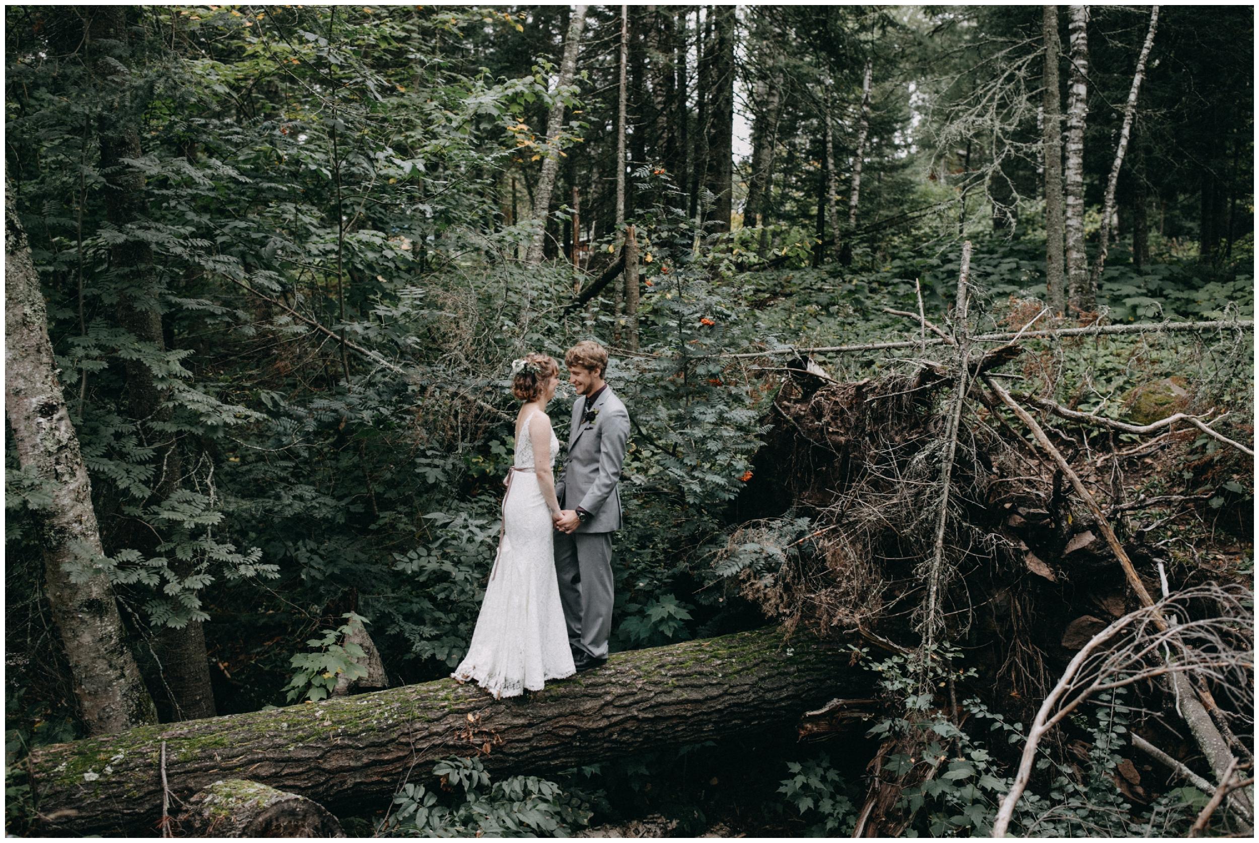 Forest wedding in Duluth Minnesota photographed by Britt DeZeeuw