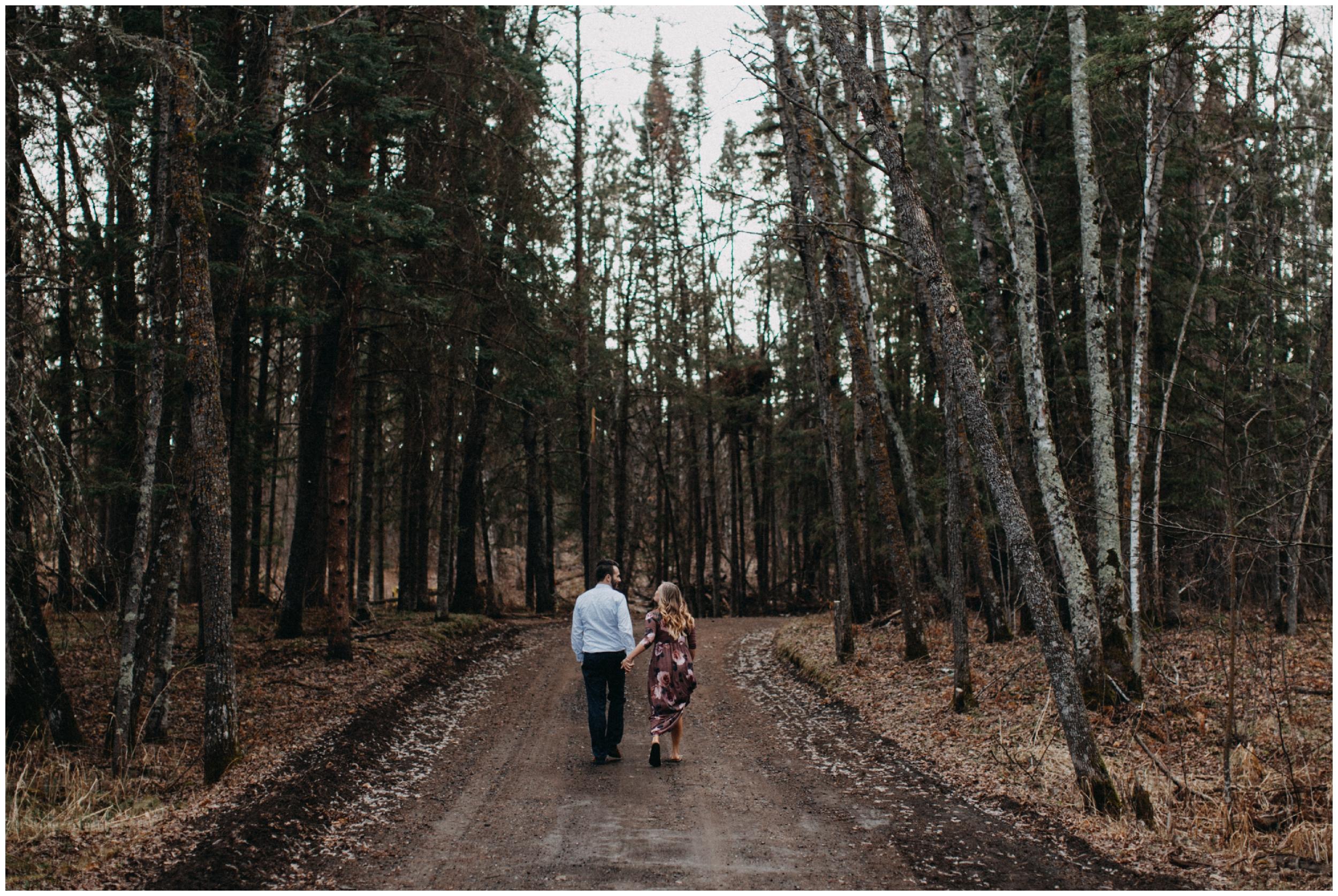 Minnesota northwoods engagement session