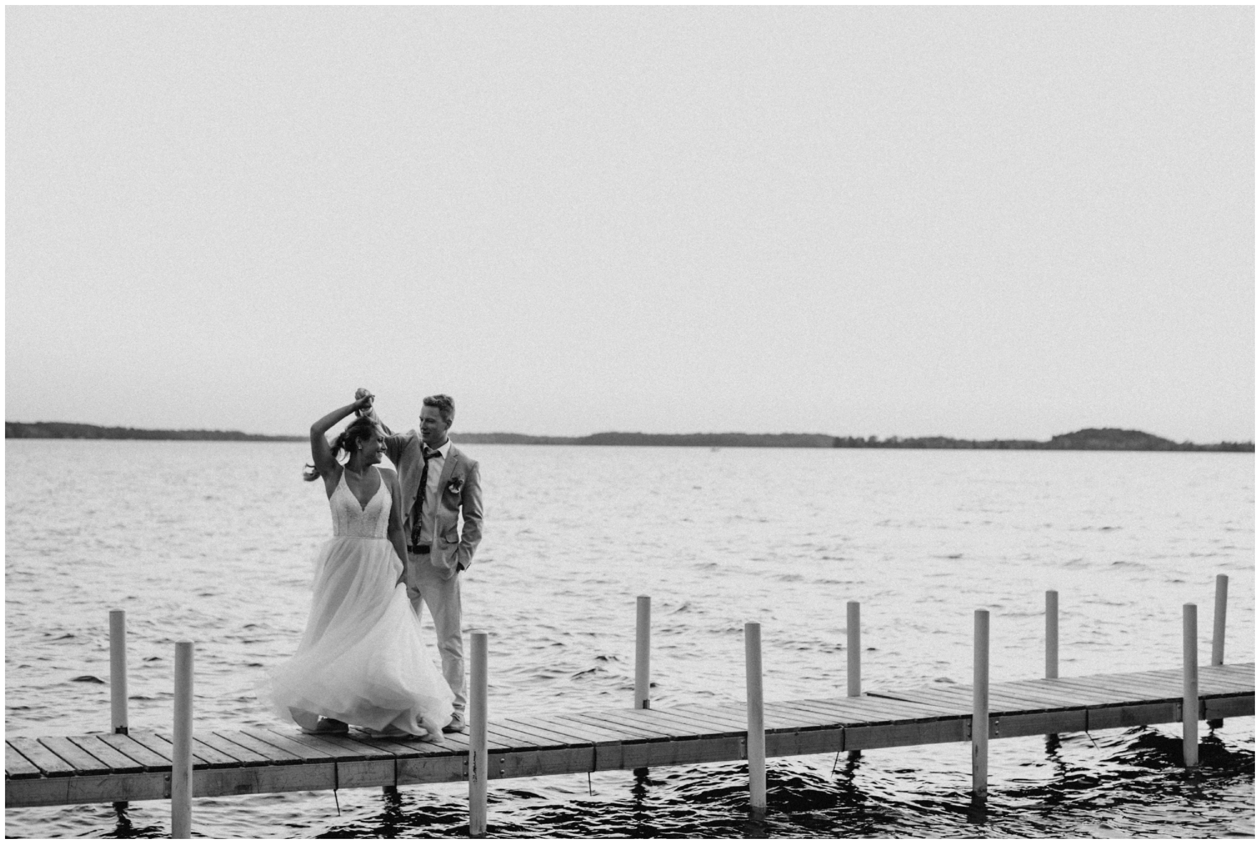 Summer camp wedding on Crosslake Minnesota photographed by Britt DeZeeuw