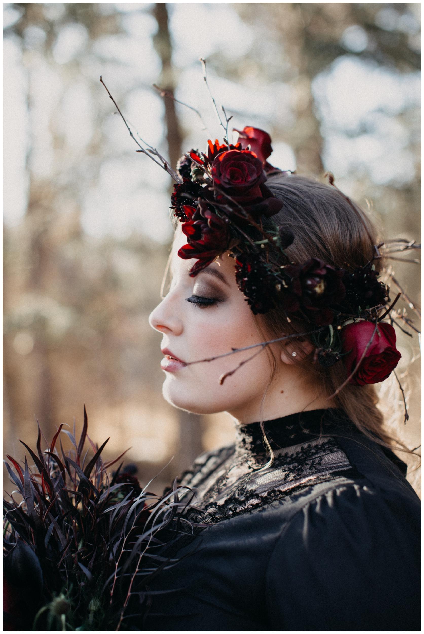 Dark and moody wedding inspiration styled shoot by Britt DeZeeuw
