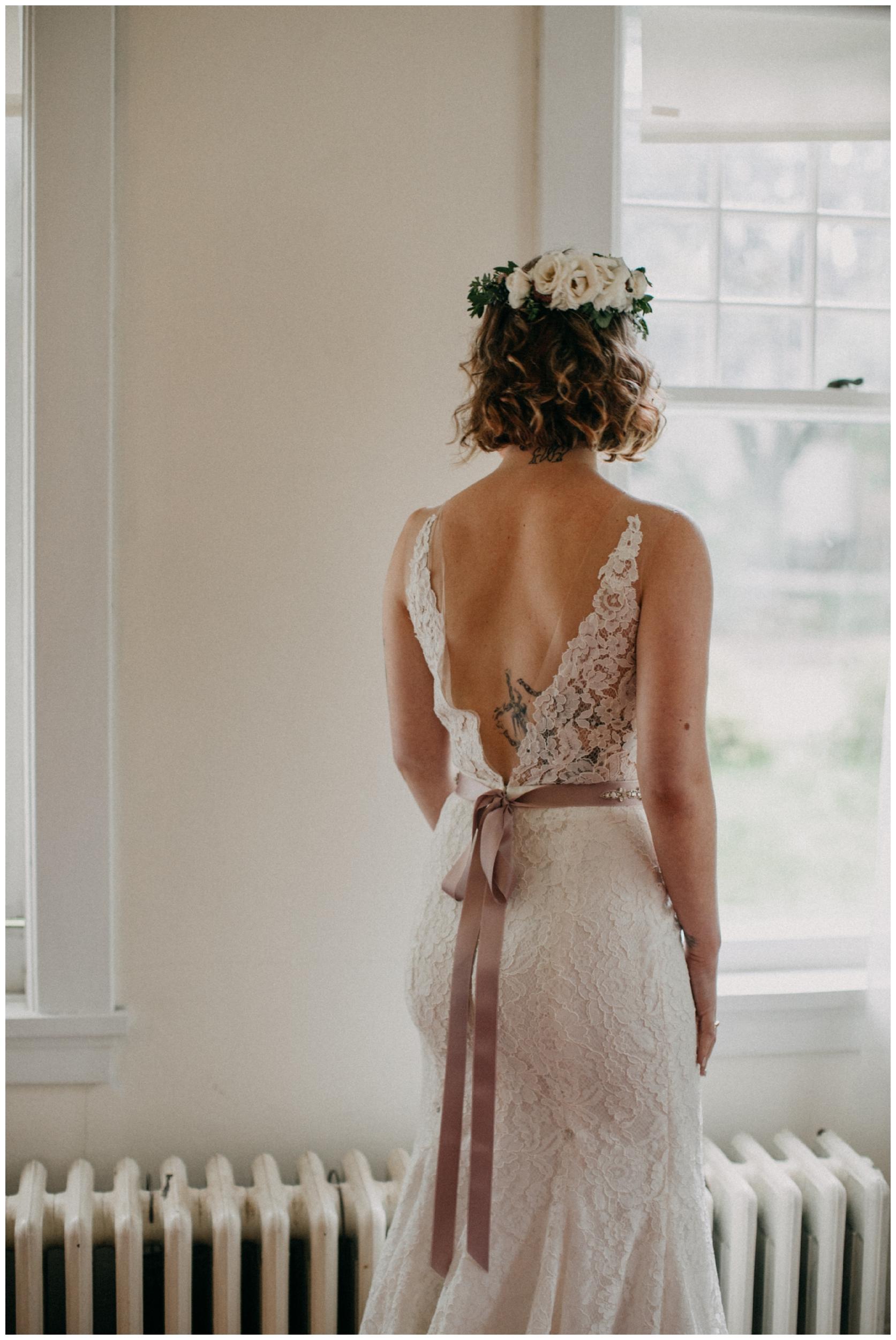 Elegant bridal portrait at intimate Duluth wedding by Britt DeZeeuw