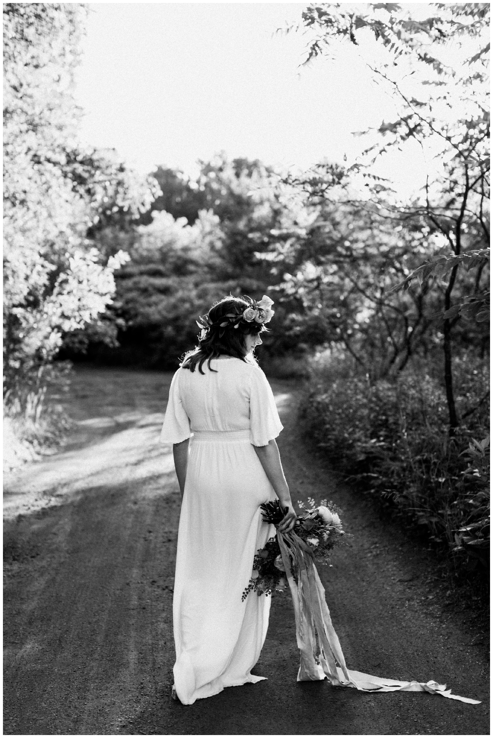 Romantic, boho bridal portrait by Brainerd Minnesota wedding photographer Britt DeZeeuw