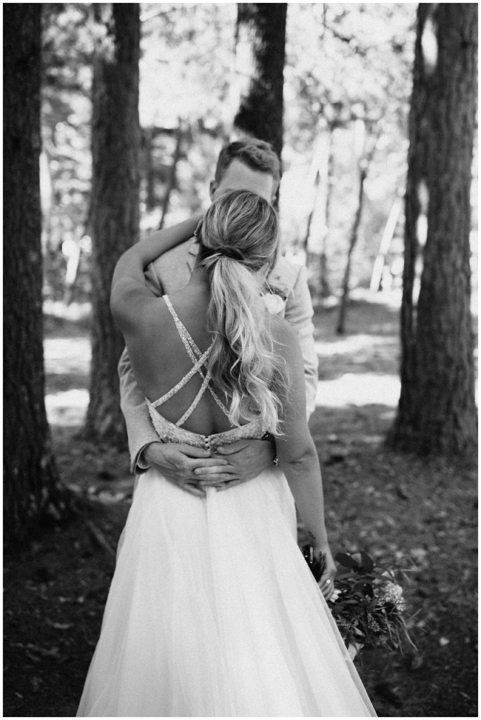 Romantic wedding at Camp Foley on the Whitefish Chain, photographed by Britt DeZeeuw