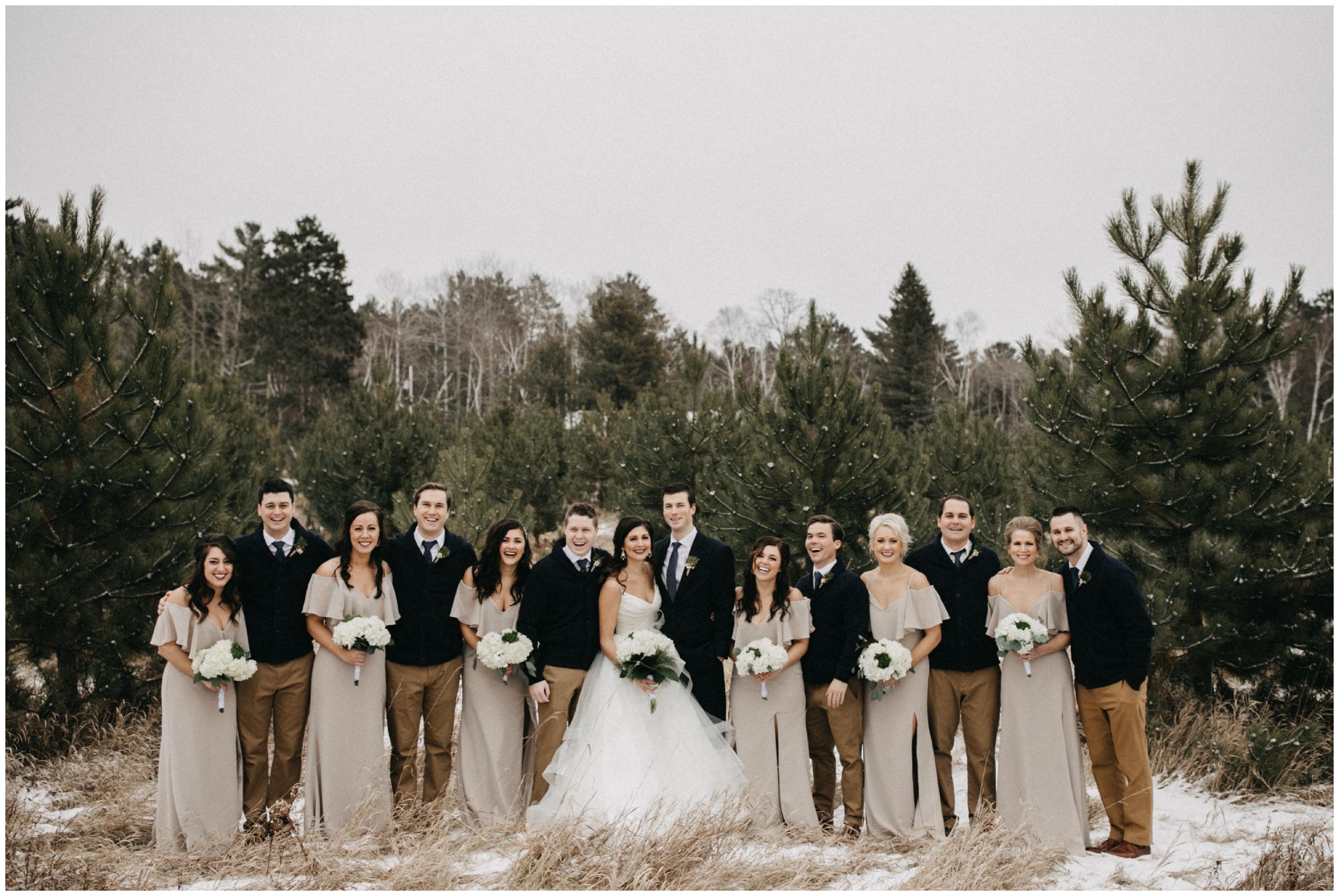 Winter wedding in Crosslake Minnesota photographed by Britt DeZeeuw