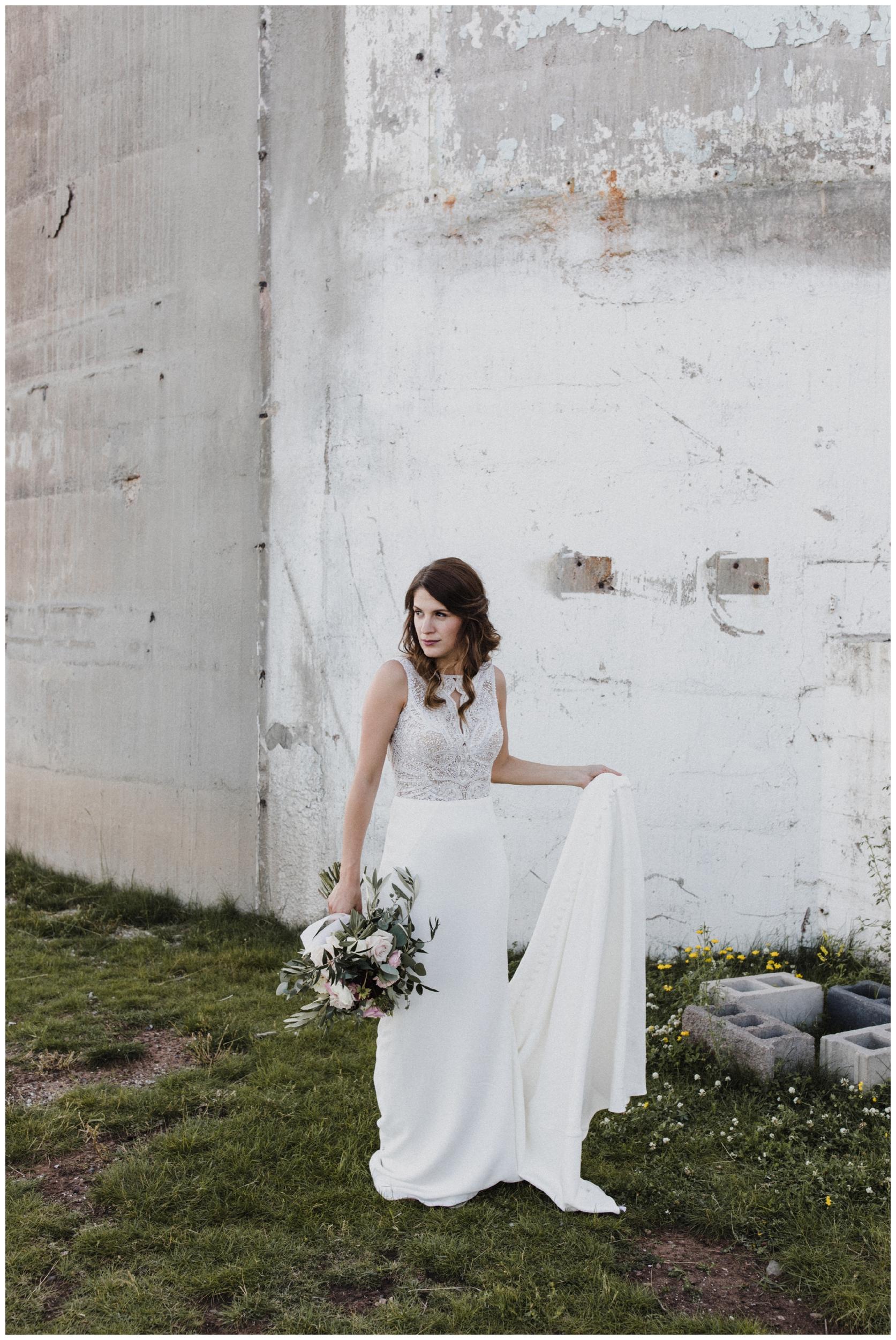 Industrial chic wedding in Duluth Minnesota