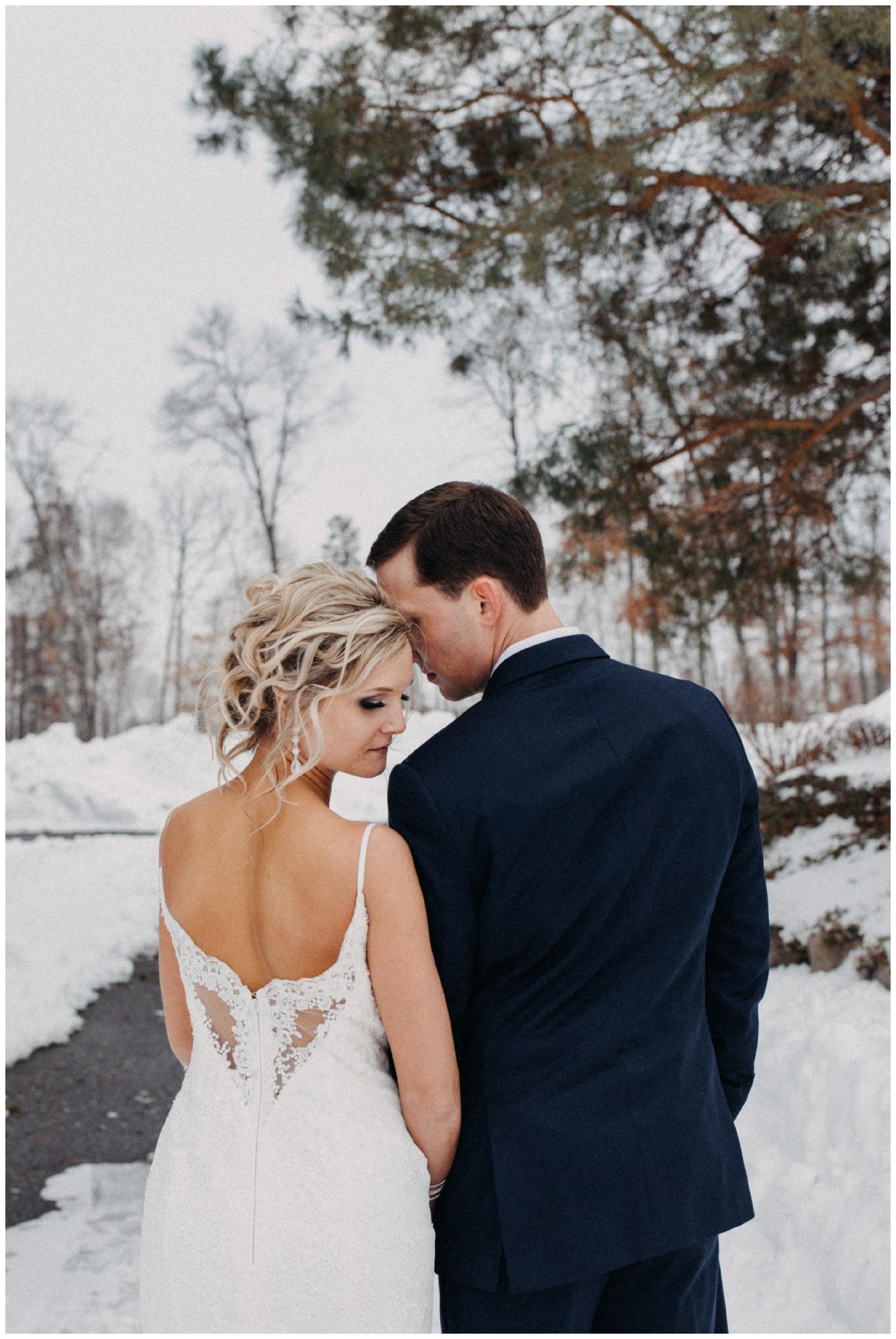 Winter wedding at Cragun's resort in Brainerd Minnesota