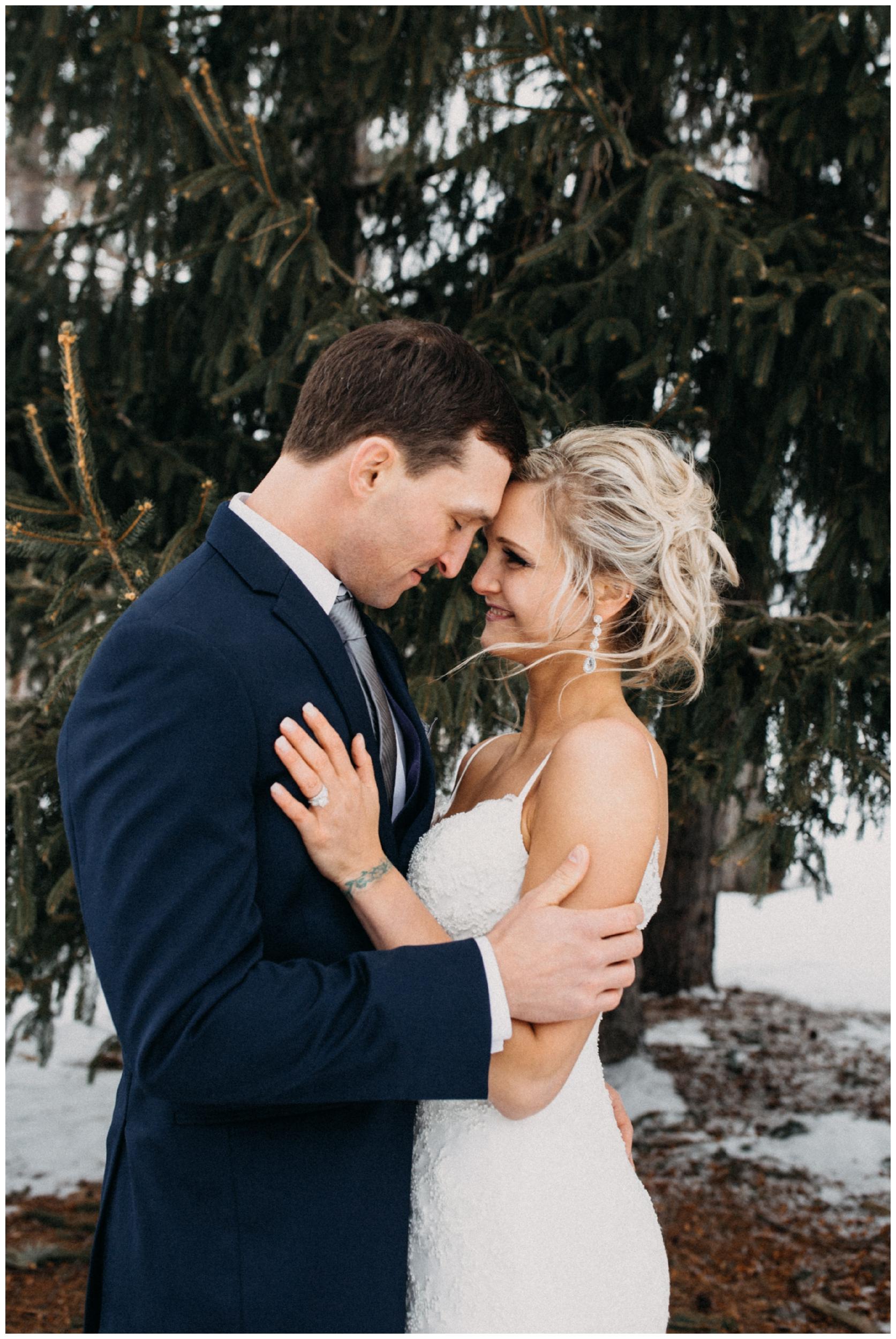 Romantic winter wedding at Cragun's resort in Brainerd Minnesota