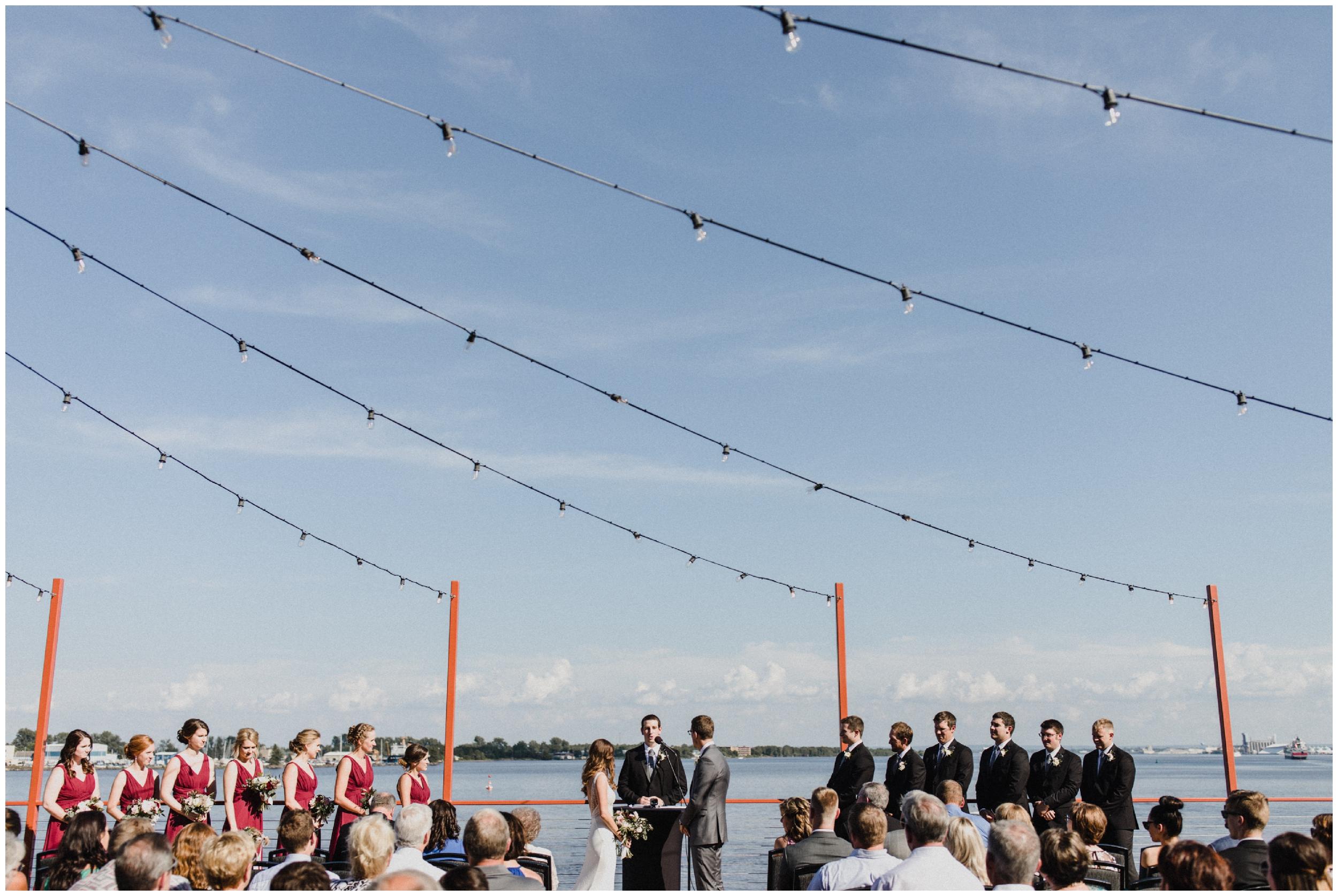 Summer wedding on Lake Superior in Duluth Minnesota