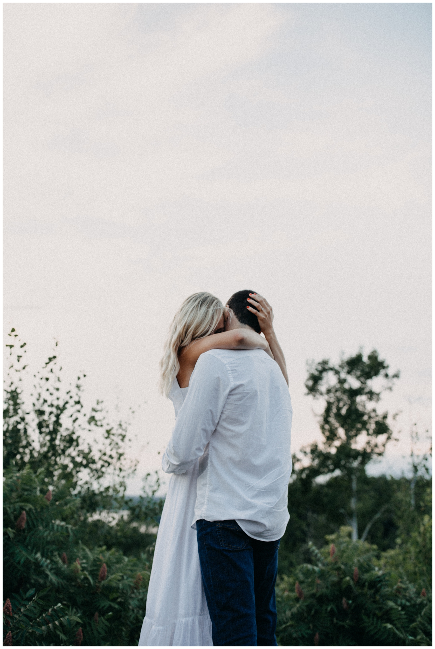 Romantic summer engagement session by Brainerd Minnesota photographer Britt DeZeeuw