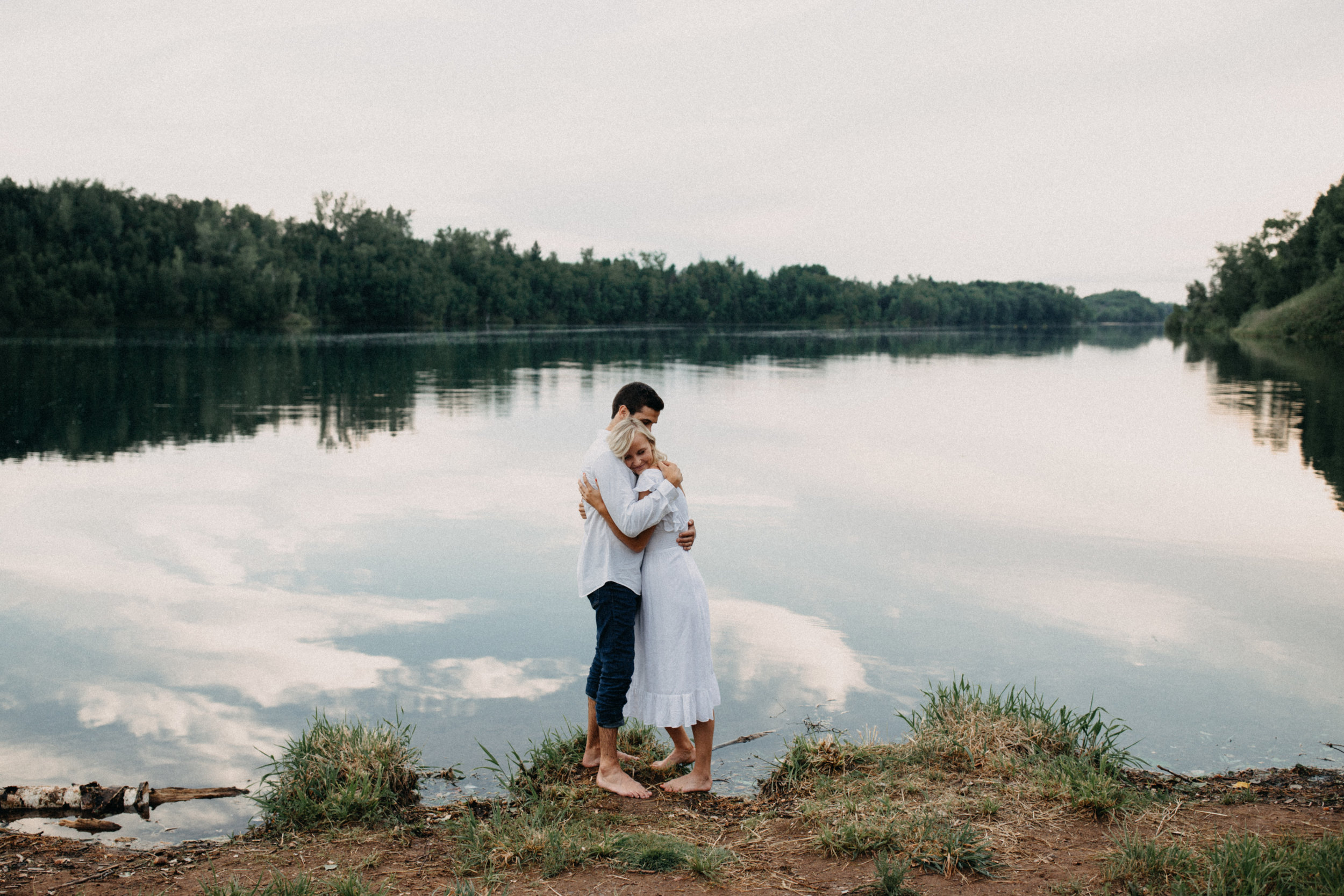 Summer engagement session at the Cuyuna Country State Recreation Area