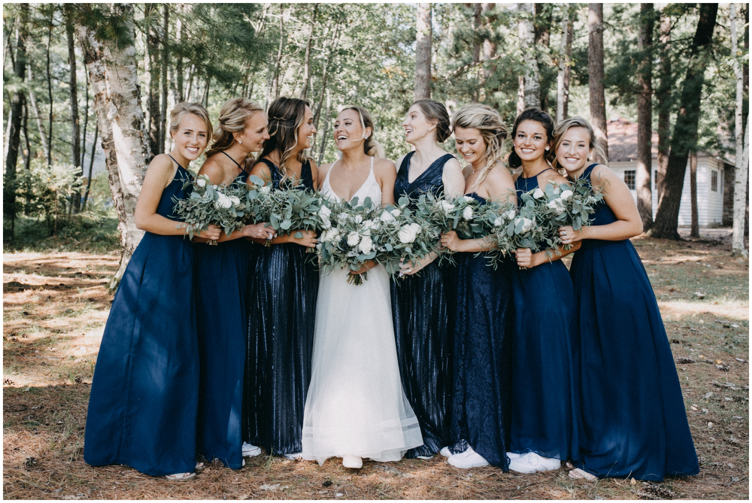 Natural and candid bridesmaid portrait at Camp Foley wedding photographed by Britt DeZeeuw