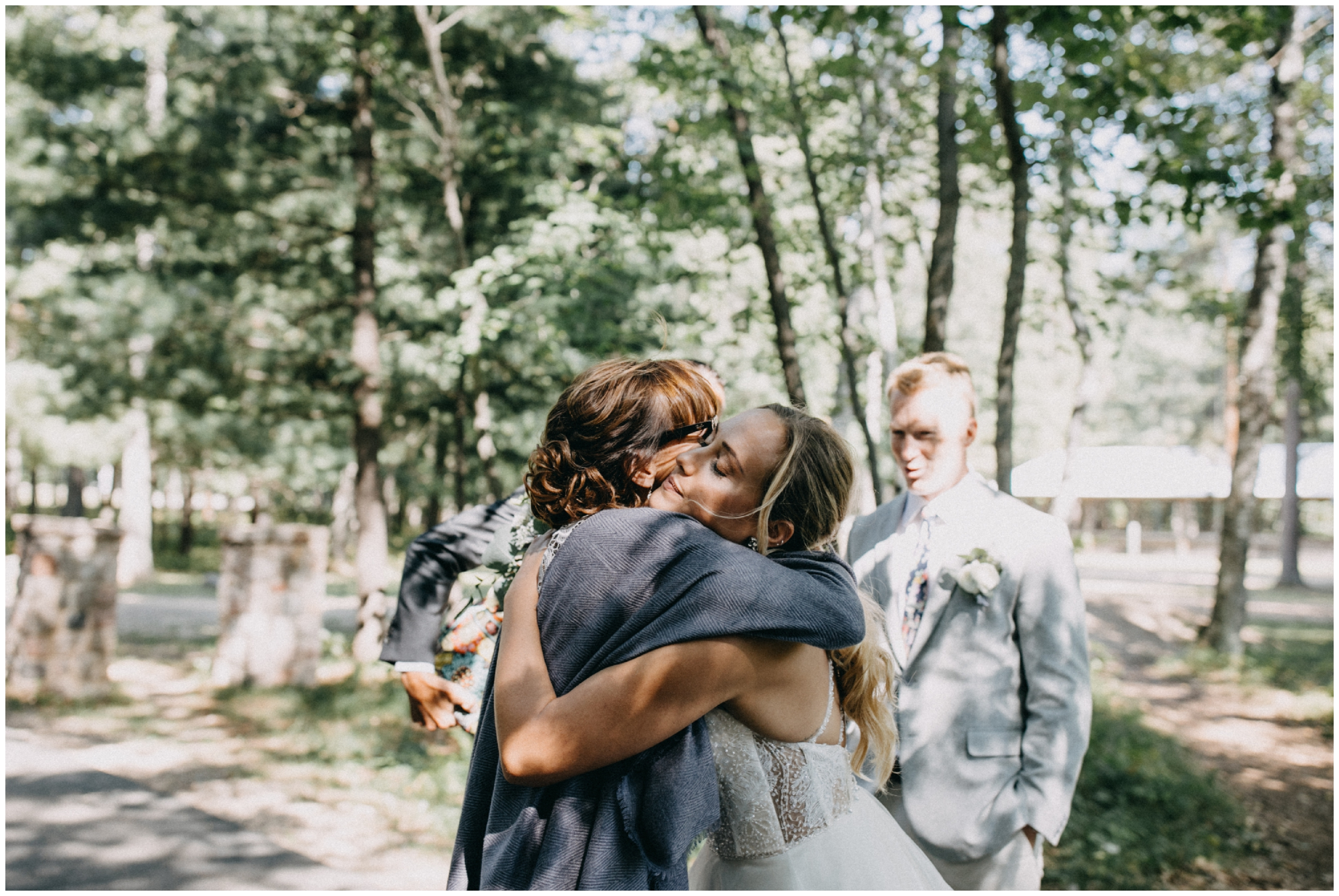 Emotional and natural family photography at Camp Foley wedding