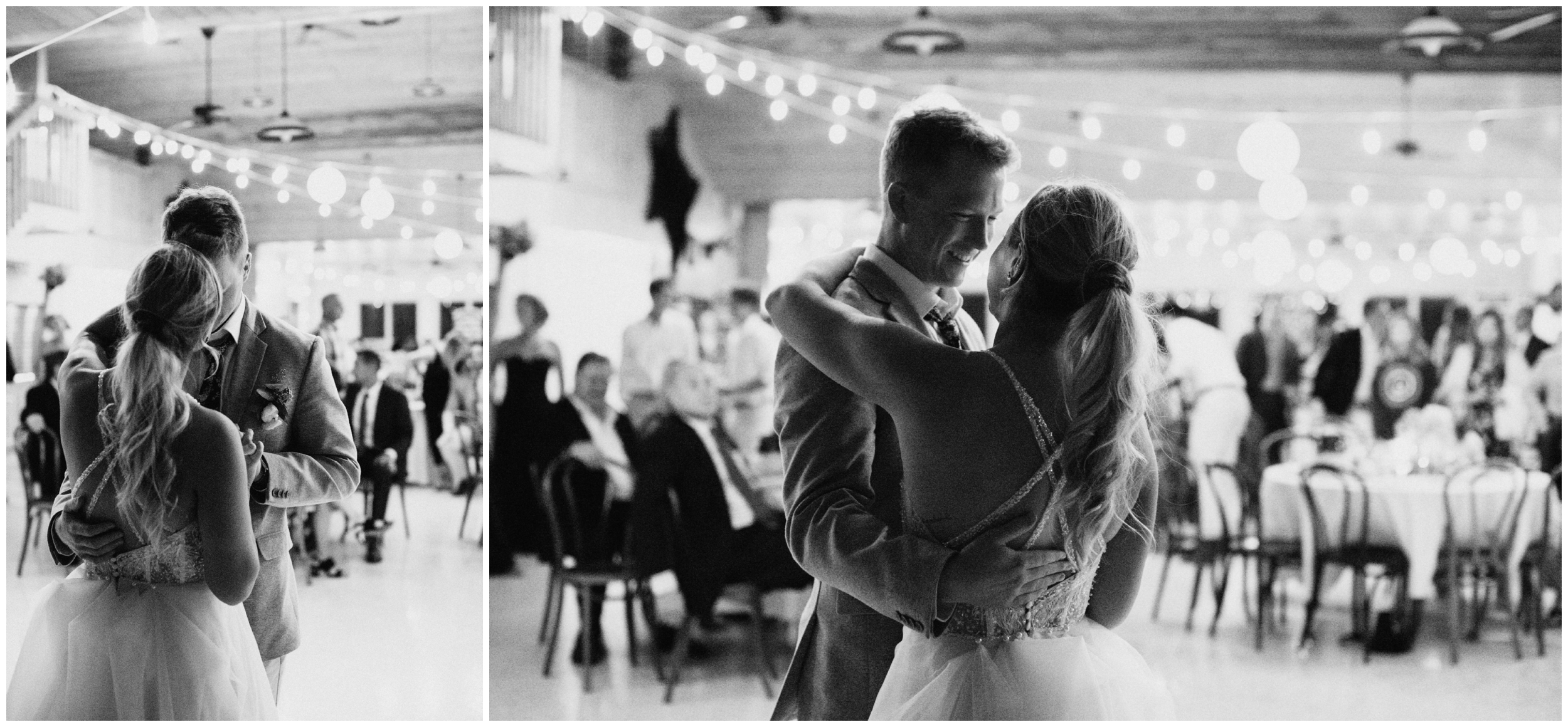Bride and groom first dance at Camp Foley wedding
