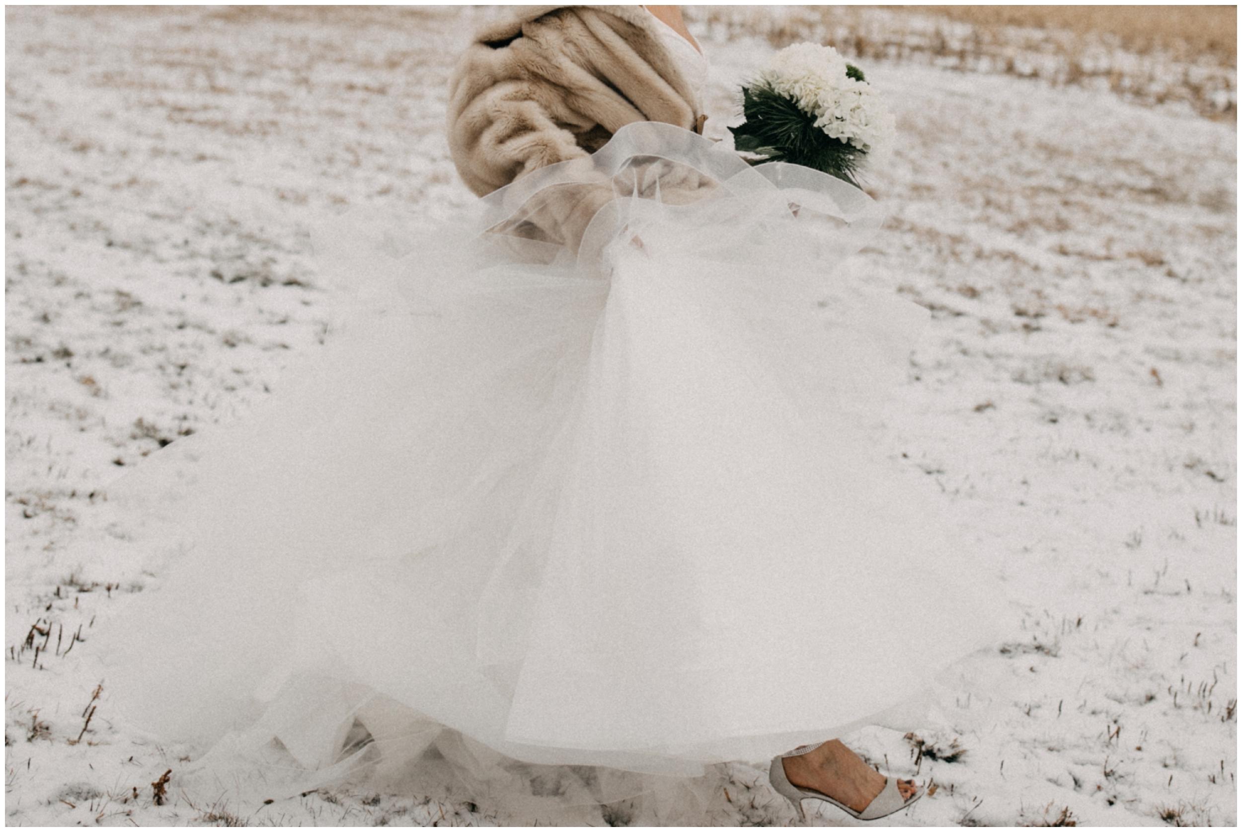Pine Peaks winter wedding in Crosslake Minnesota