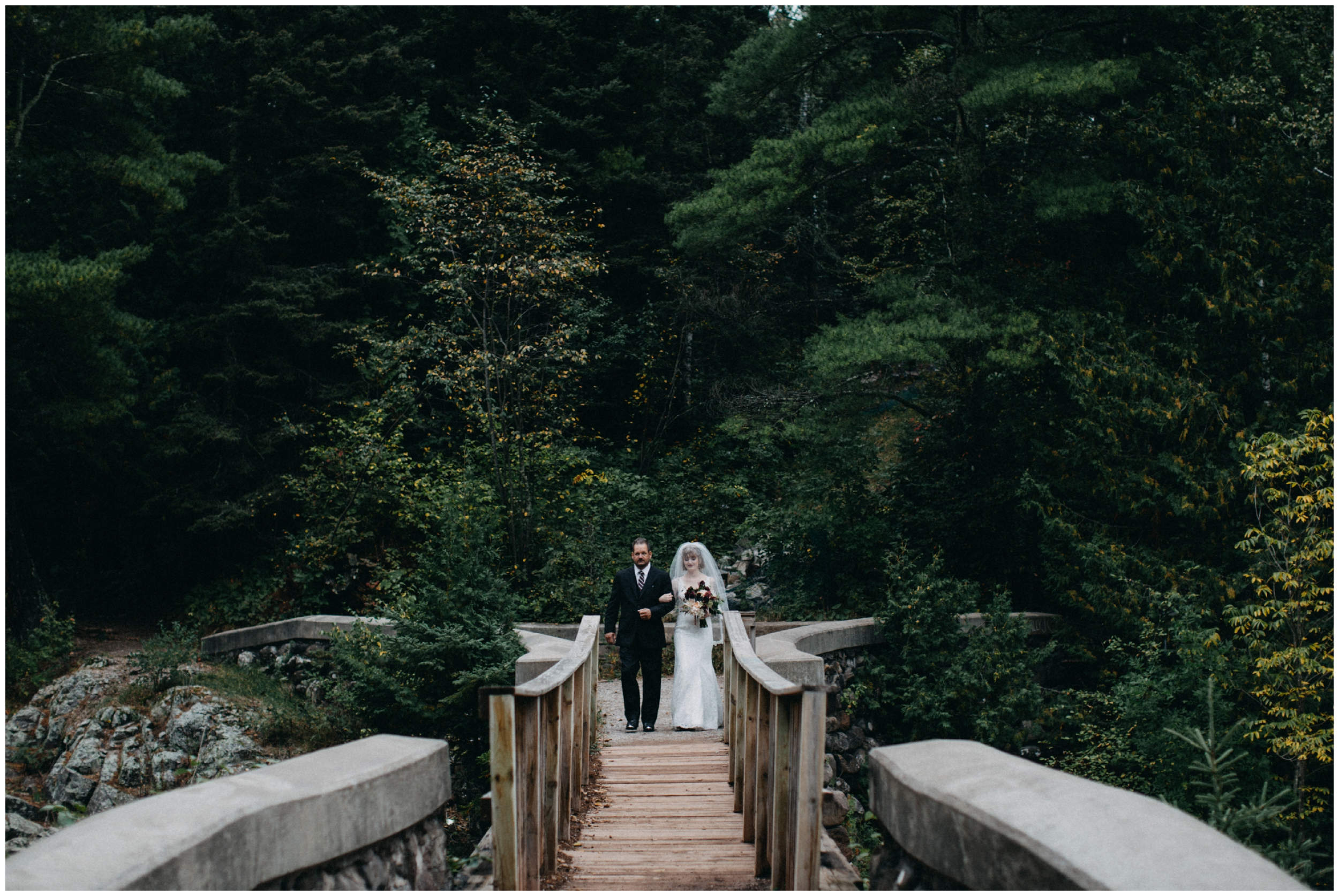 Intimate Duluth wedding in the woods