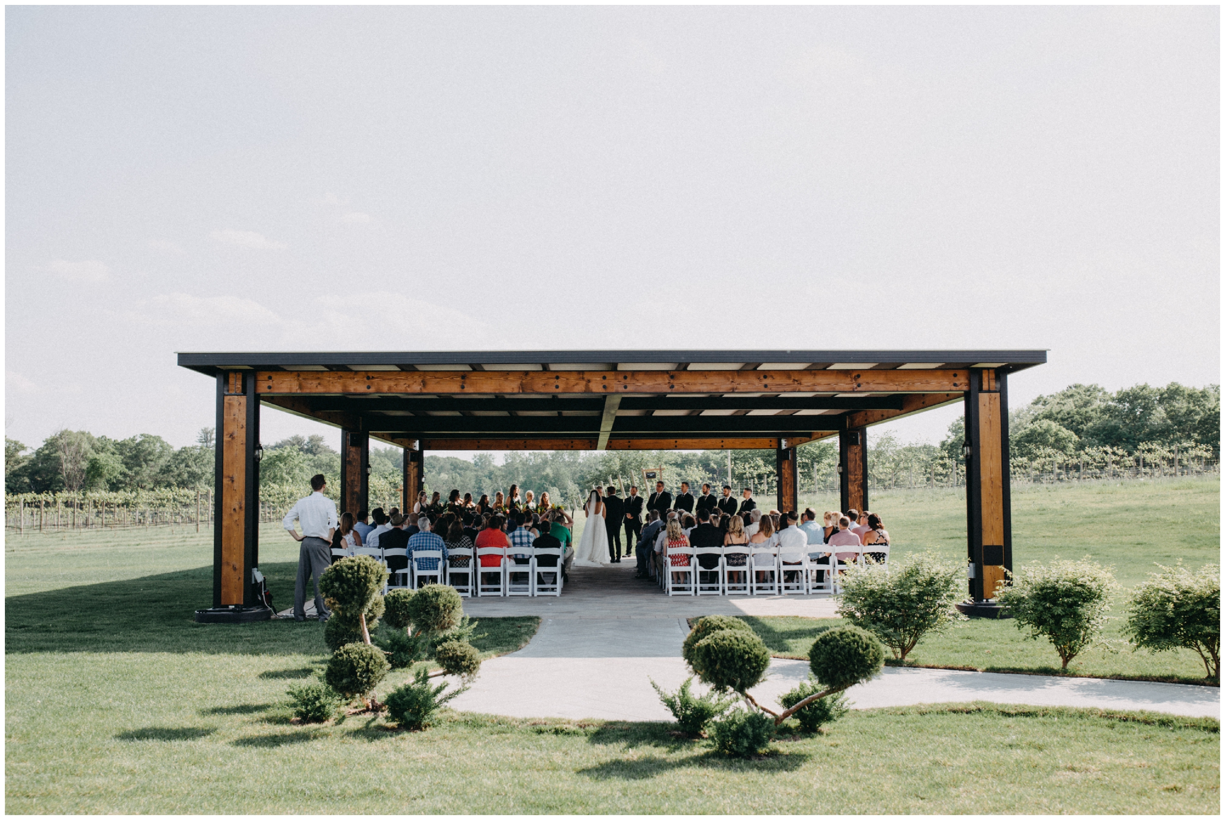 Vineyard wedding ceremony in Whitebear Lake Minnesota