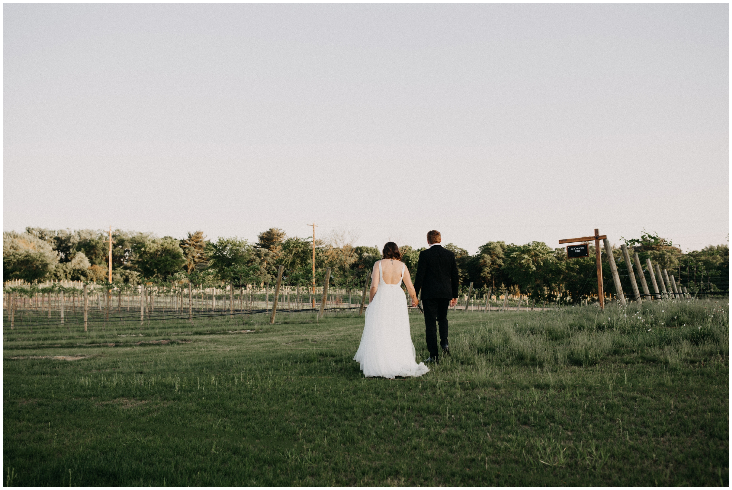 Romantic Minnesota winery wedding