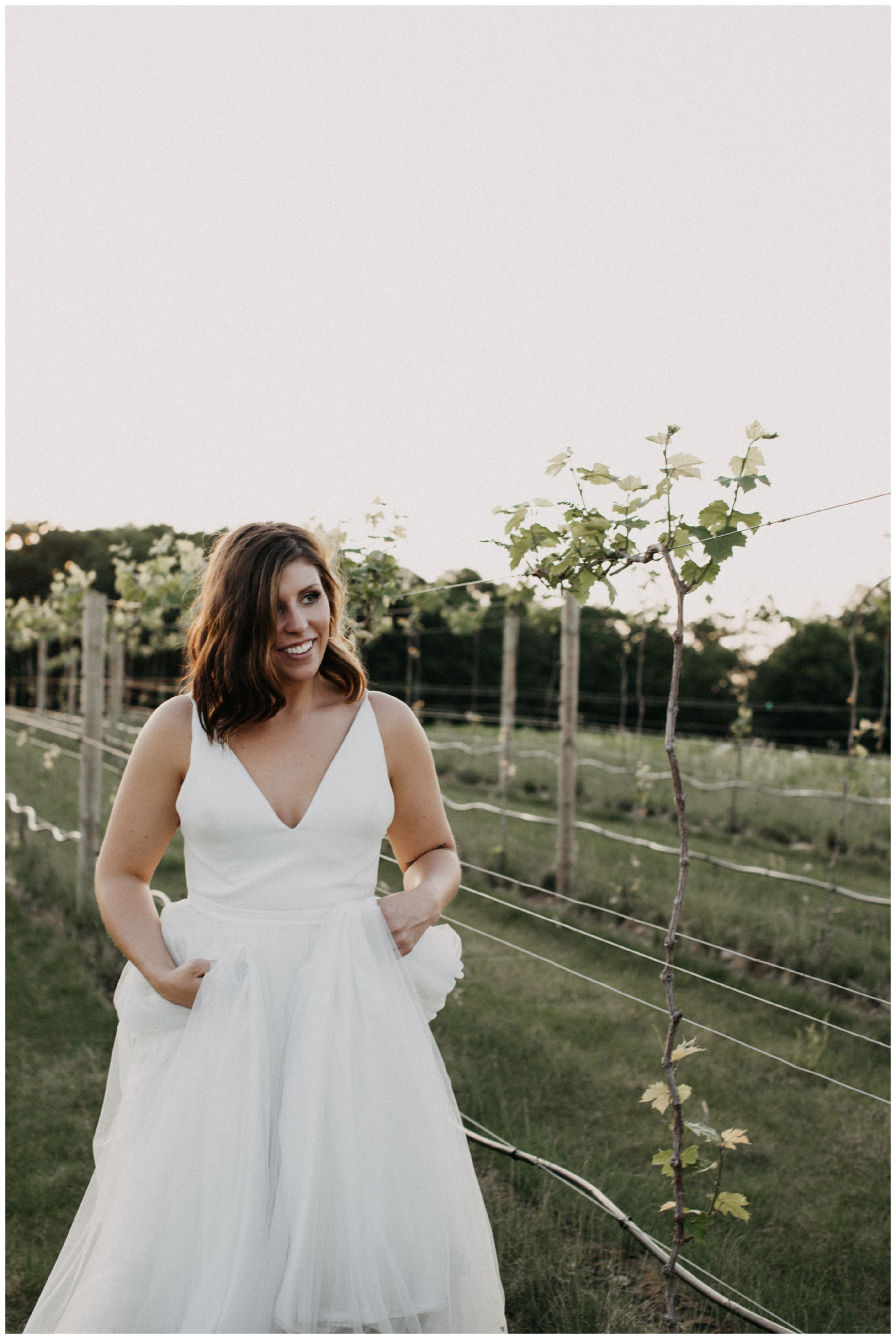 Romantic Minnesota summer wedding in vineyard