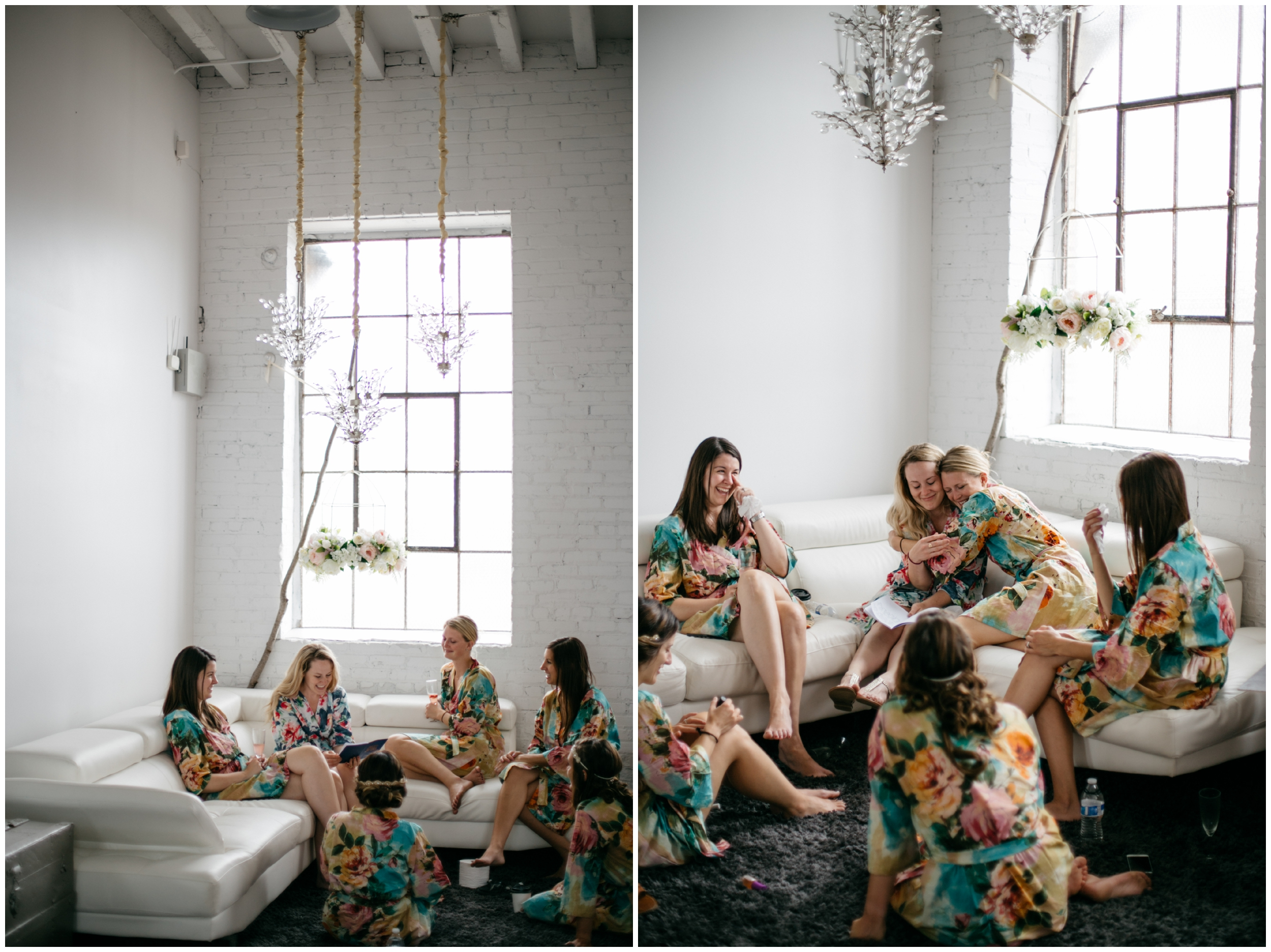 Emotional bride and bridesmaids at the NP Event Space
