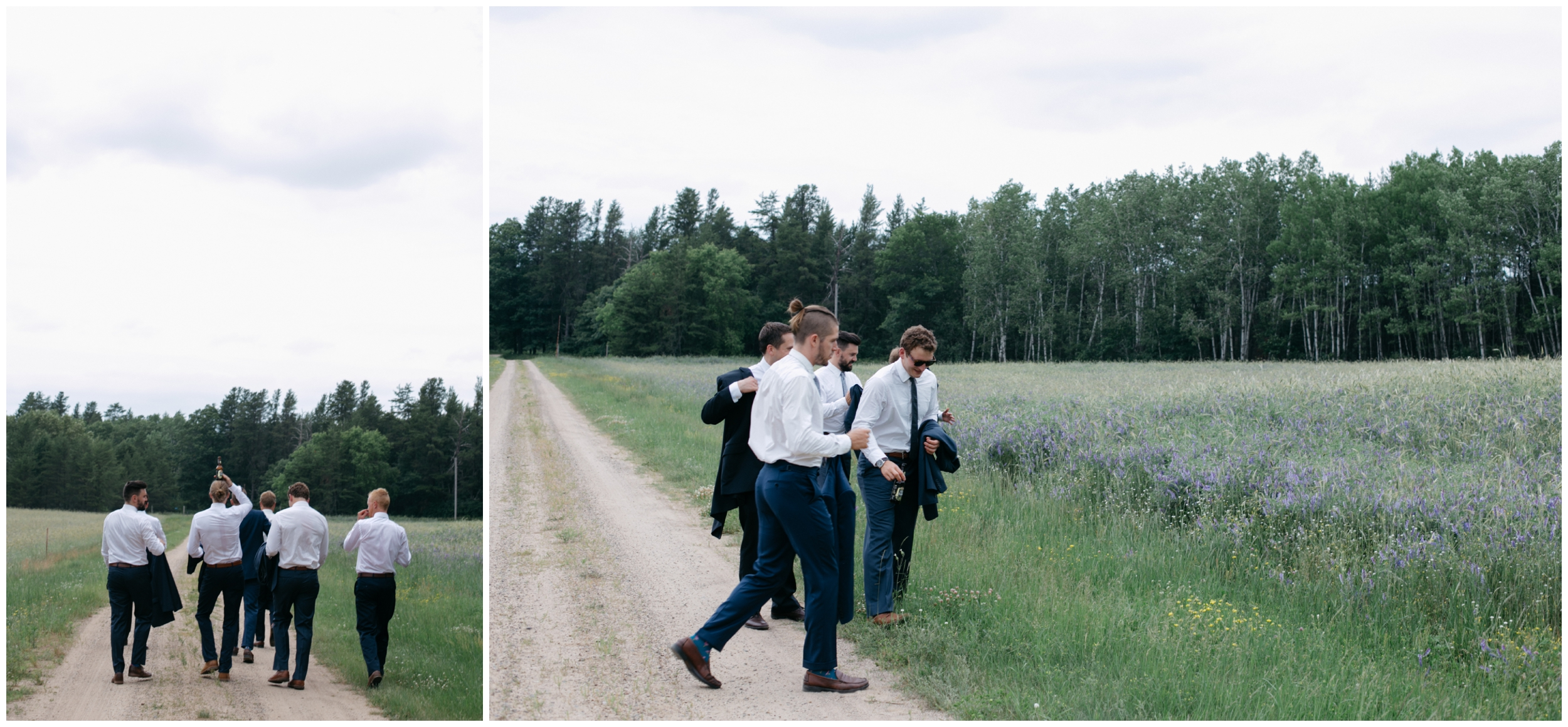 Stylish hipster groom and groomsmen at the Whitely Creek Inn