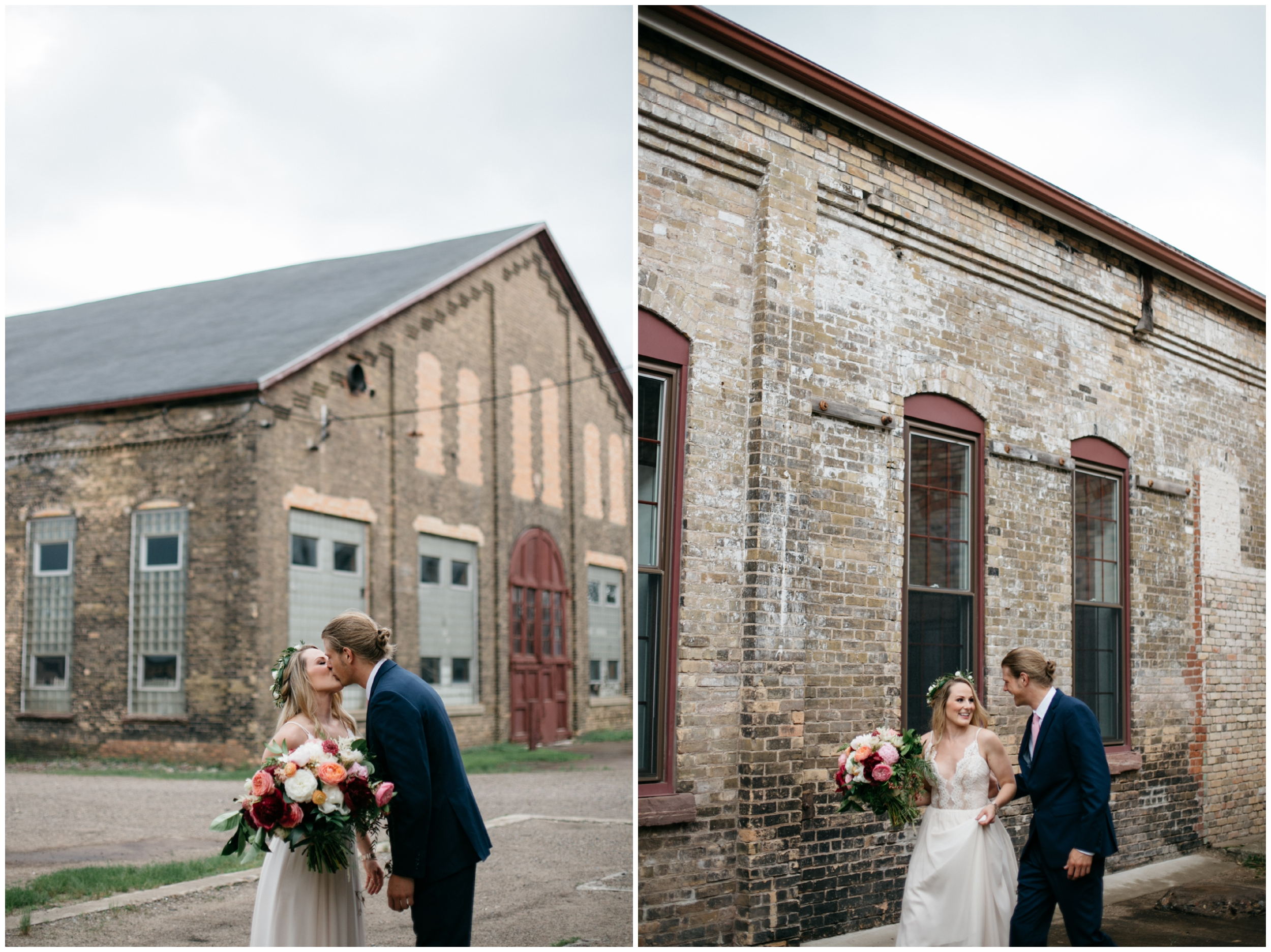 Modern industrial wedding at the NP Event Space
