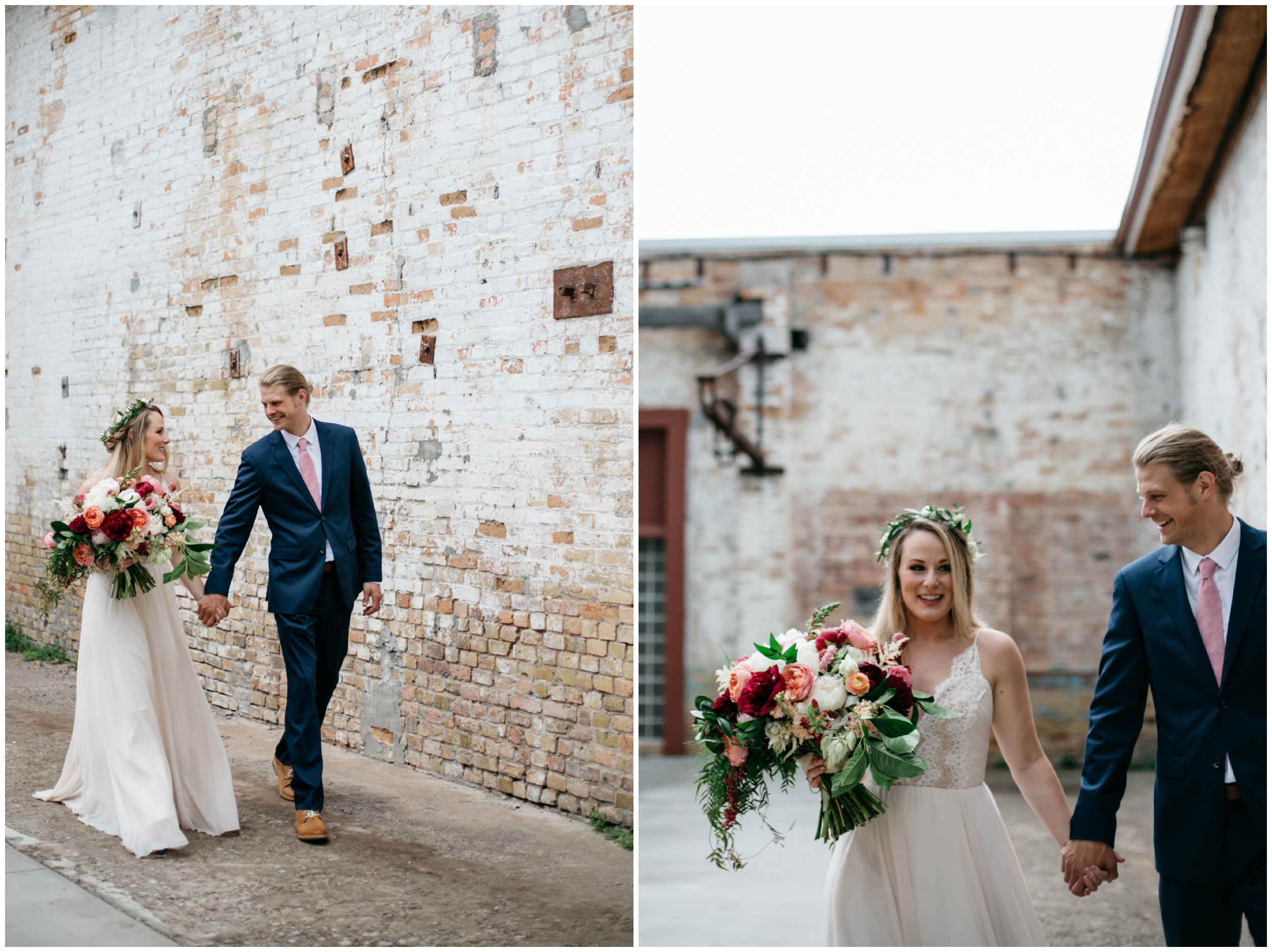 Romantic industrial wedding at the NP Event Space