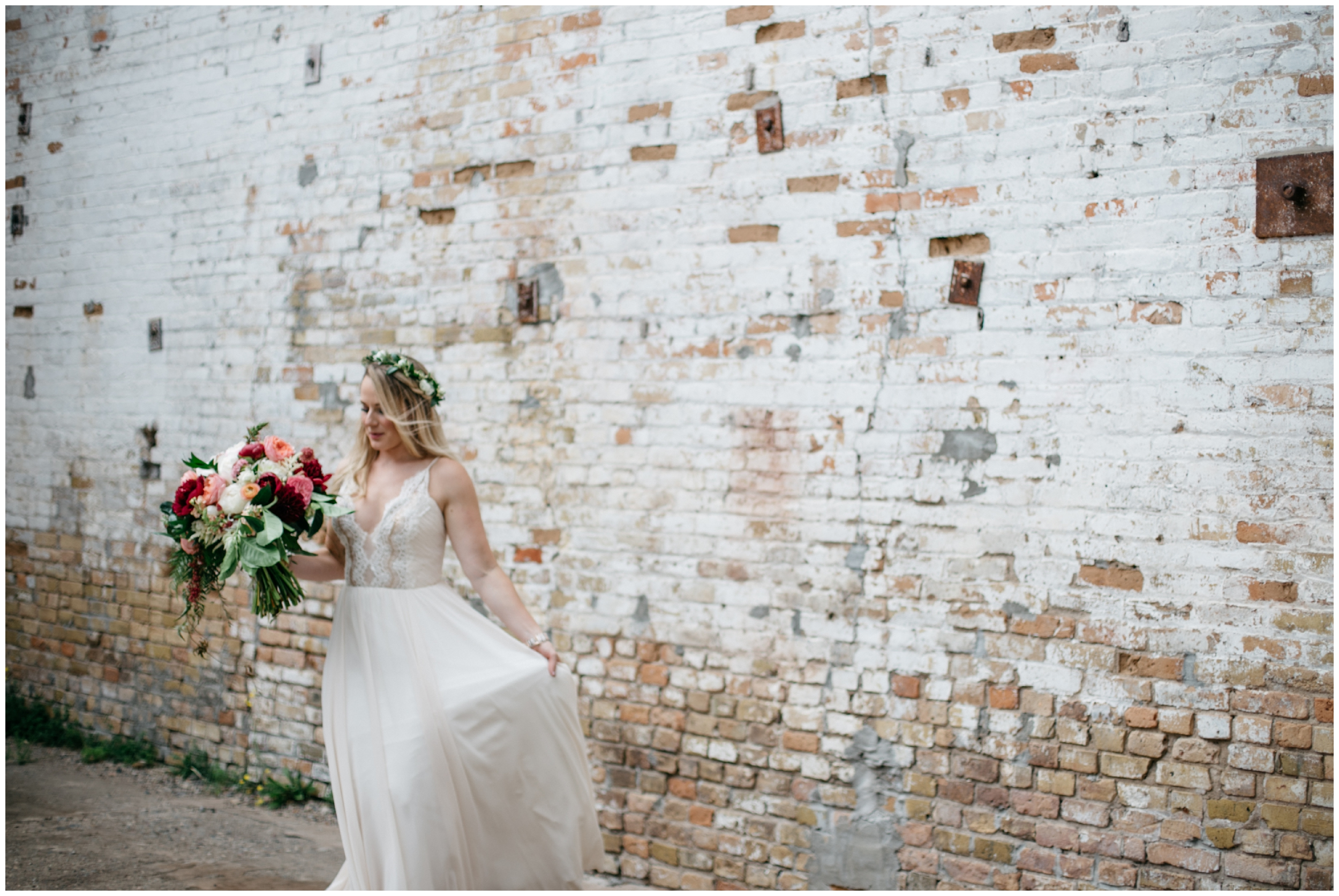 Boho chic warehouse wedding at the NP Event Space