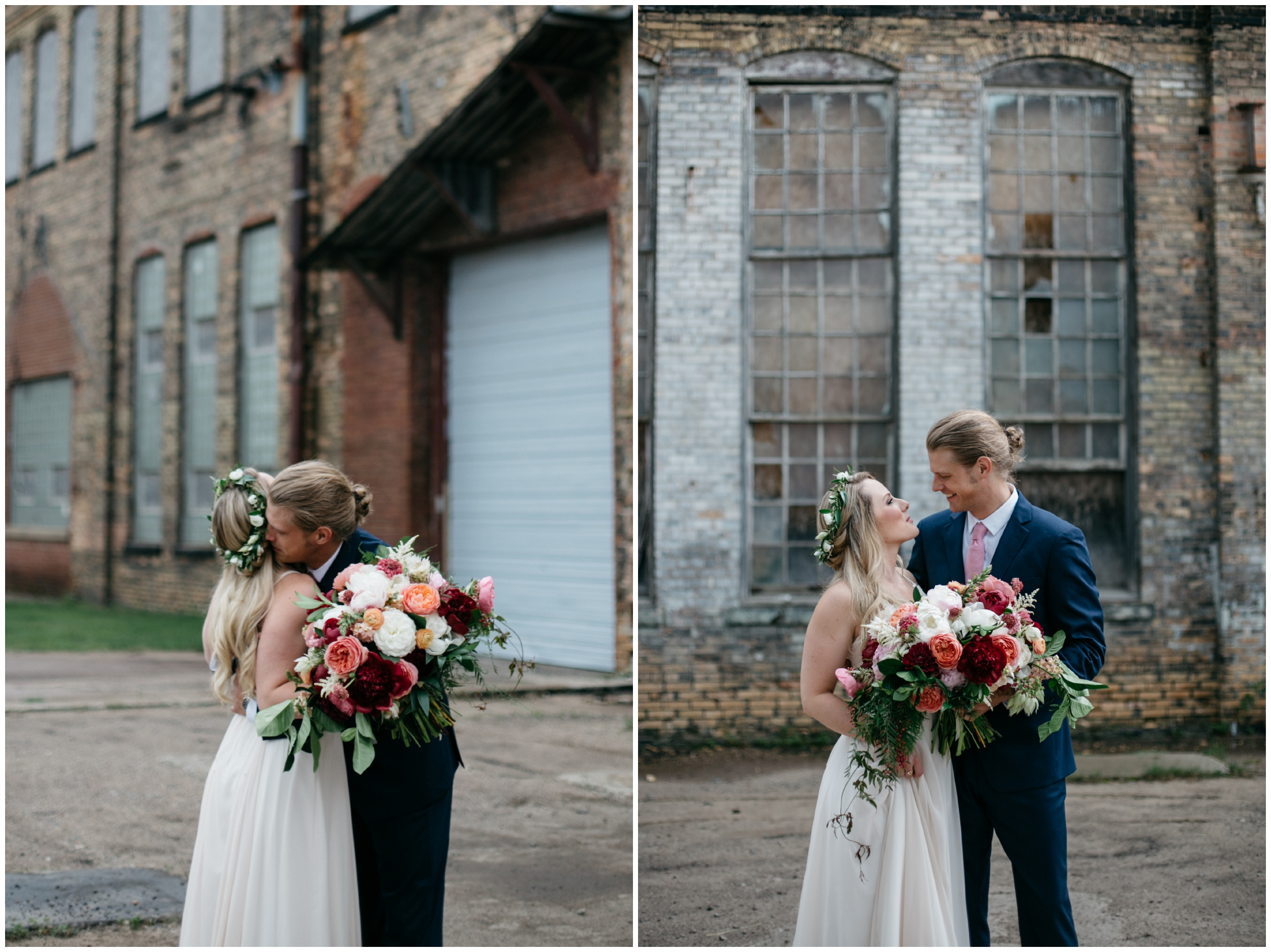Whimsical industrial wedding at the NP Event Space