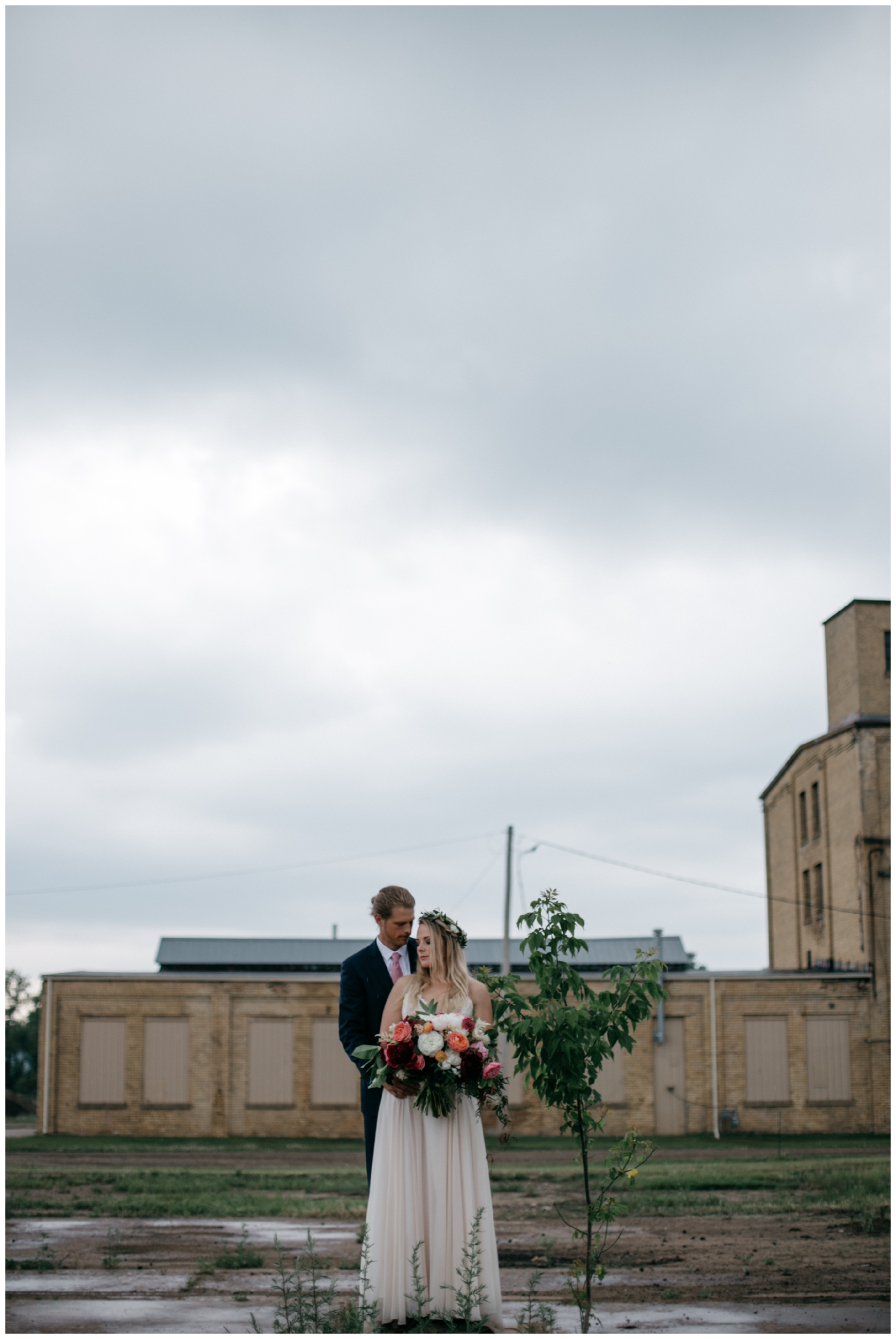 Romantic rainy wedding at the NP Event Space