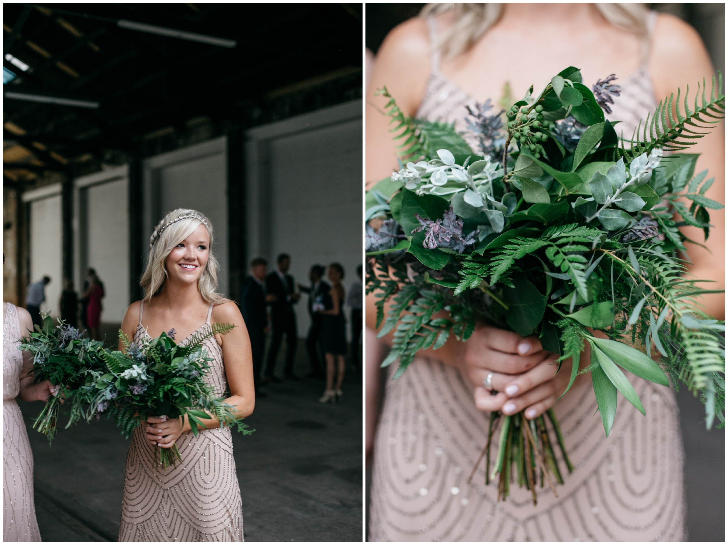 Fern bridesmaid bouquet at the NP Event Space