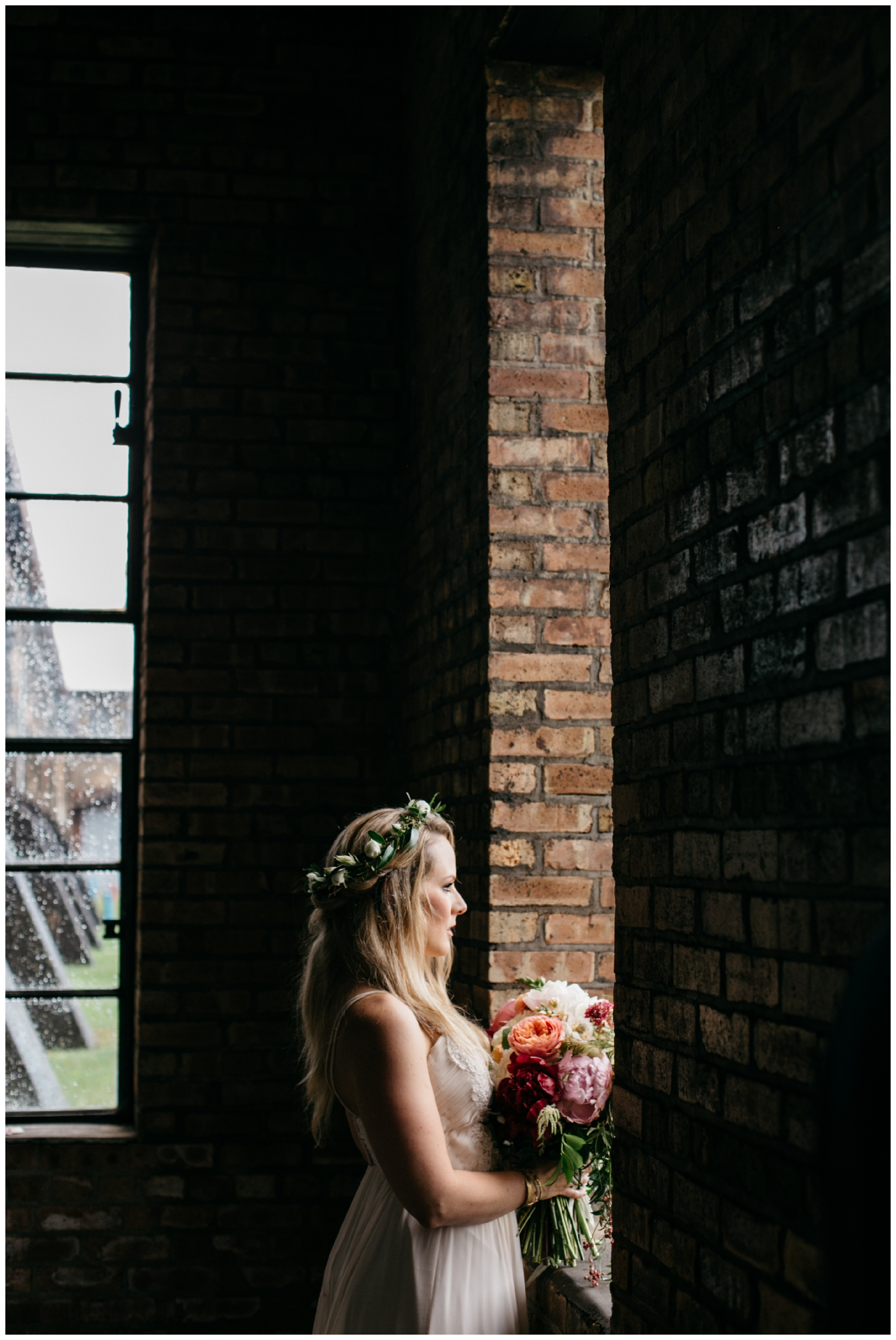 Romantic warehouse wedding at the NP Event Space