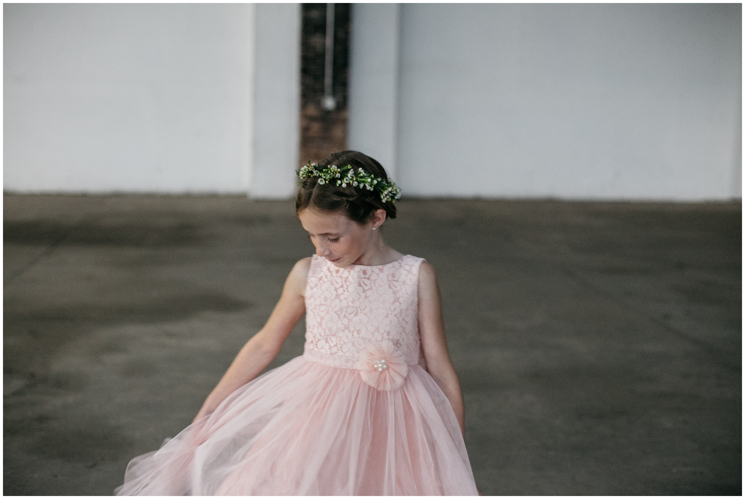 Whimsical flower girl at the NP Event Space